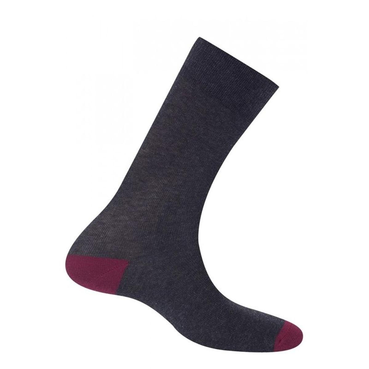 Chaussettes de couleurs contrastées Made in France