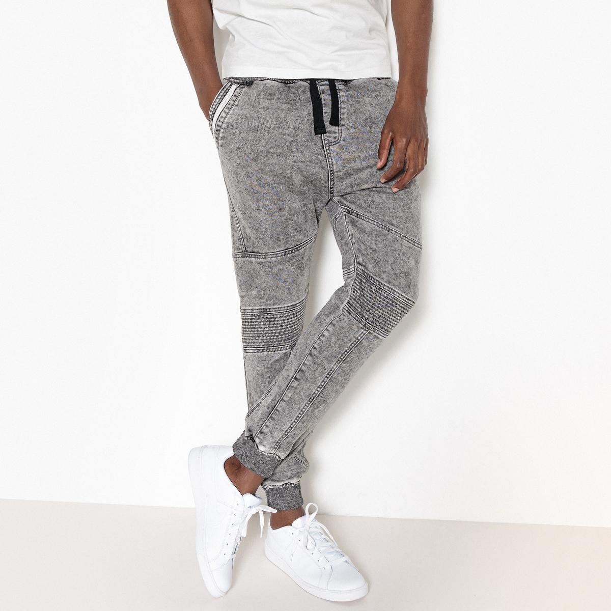 Брюки в спортивном стиле из мольтона брюки из мольтона узкие