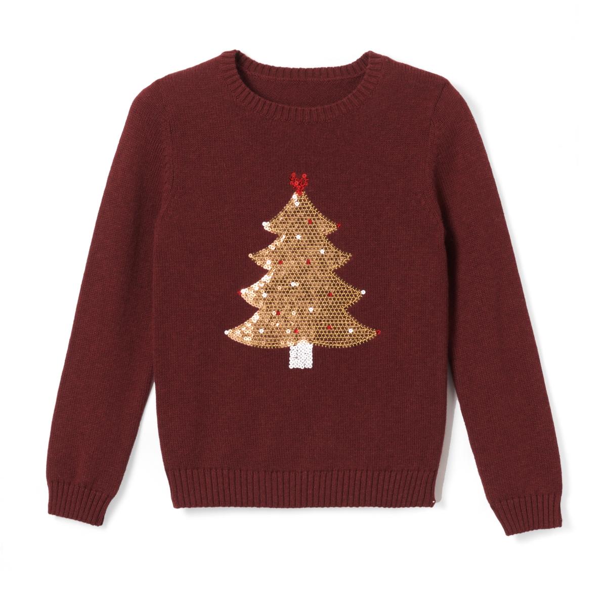 Пуловер с блестками 3-12 лет