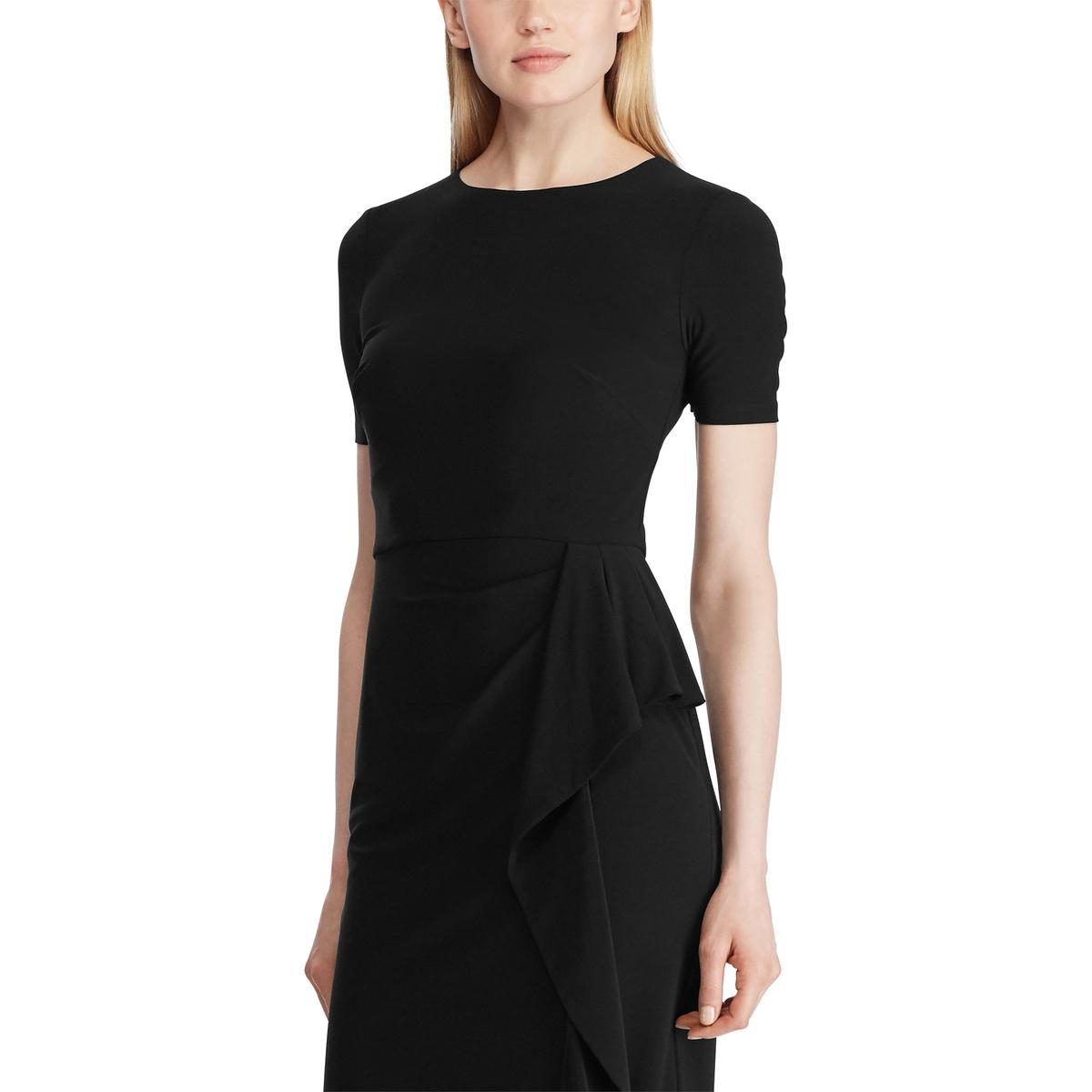 Платье La Redoute С короткими рукавами с драпированной талией 40 (FR) - 46 (RUS) черный платье la redoute прямое с короткими рукавами 46 fr 52 rus зеленый