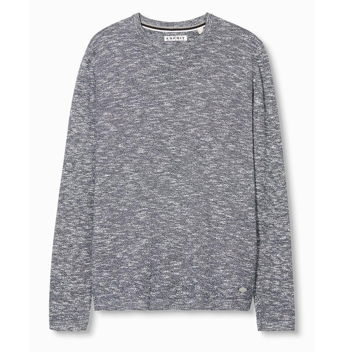 Пуловер из трикотажа мулинеСостав и описание:Материал: 100% хлопка.Марка: ESPRIT.<br><br>Цвет: темно-синий<br>Размер: L