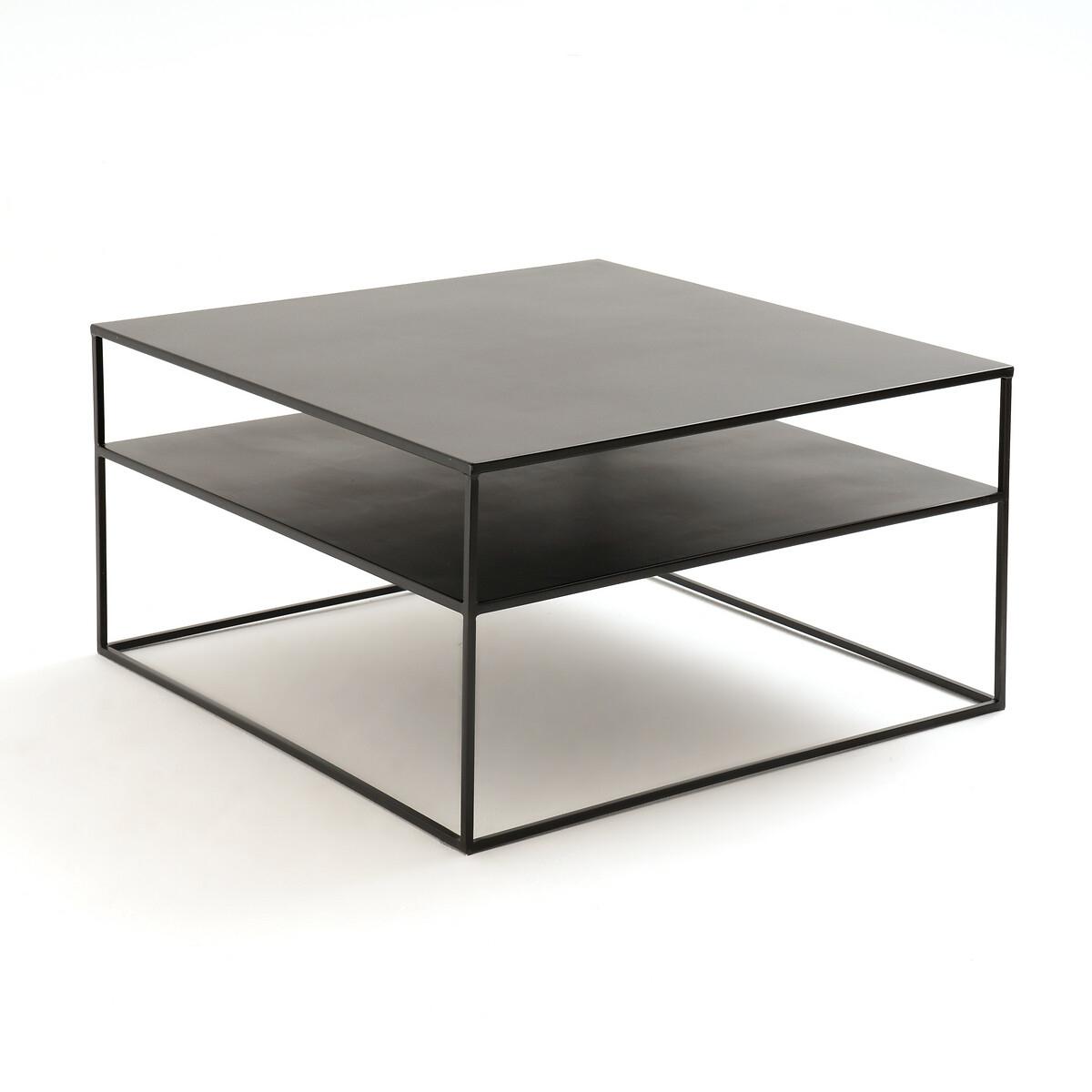 Столик LaRedoute Журнальный квадратный из стали Hiba единый размер черный