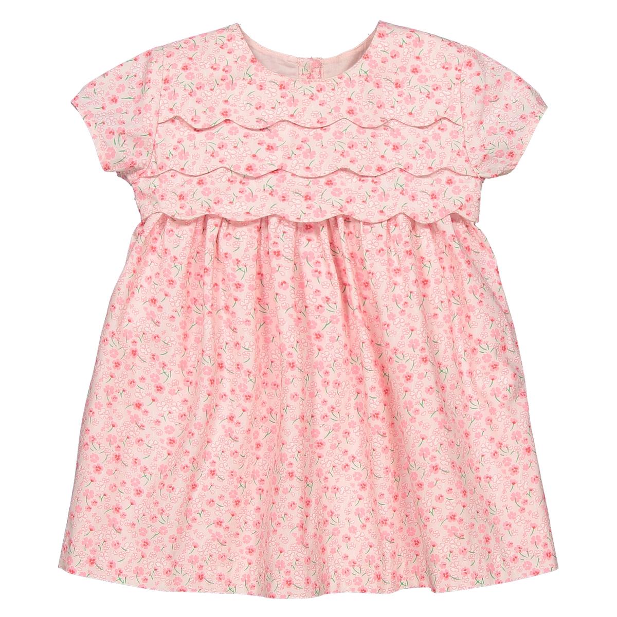 Платье La Redoute С короткими рукавами и цветочным рисунком мес - года 3 года - 94 см розовый платье la redoute из мольтона в полоску и тюля мес года 3 года 94 см розовый