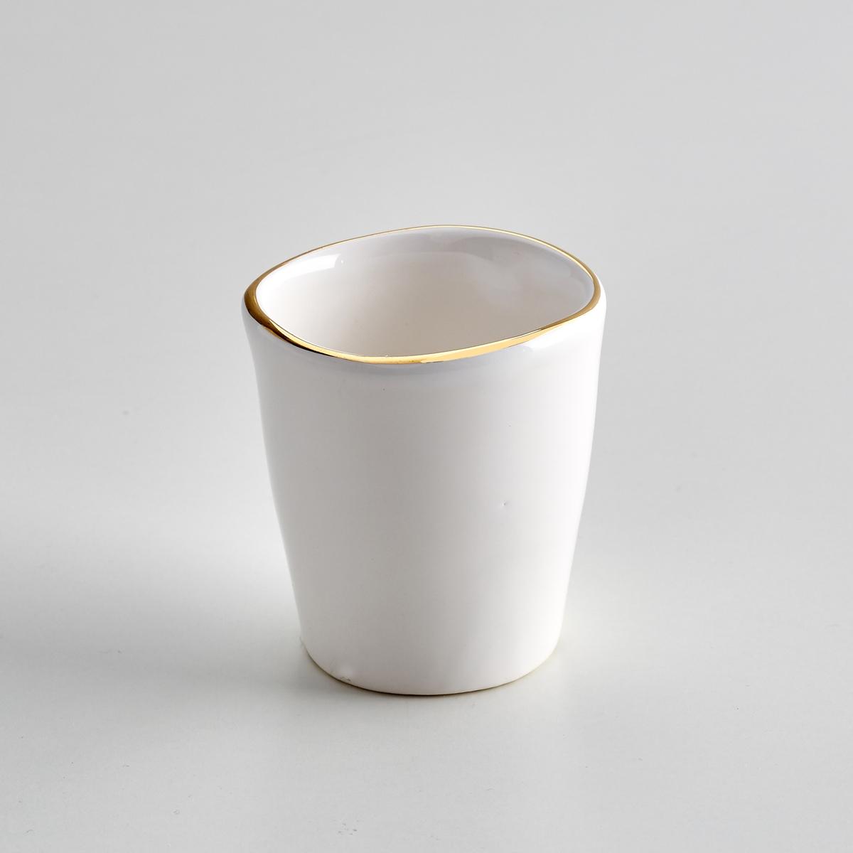 Комплект из 4 кофейных чашек из фаянса, Catalpa<br><br>Цвет: белый<br>Размер: единый размер