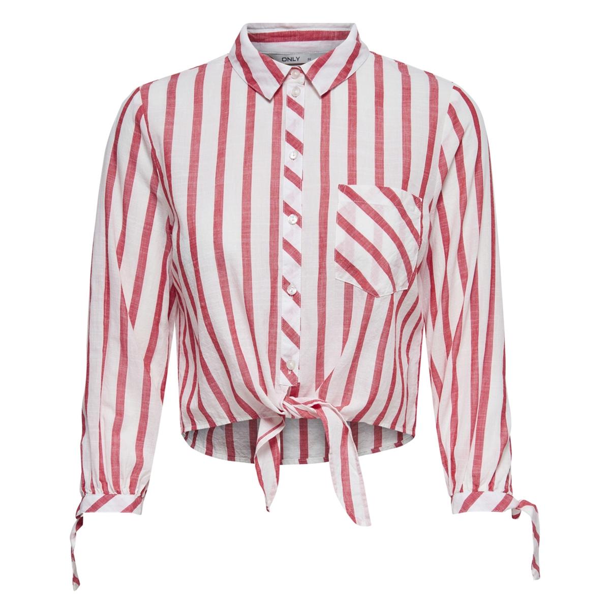 Рубашка укороченная с длинными рукавами на завязках