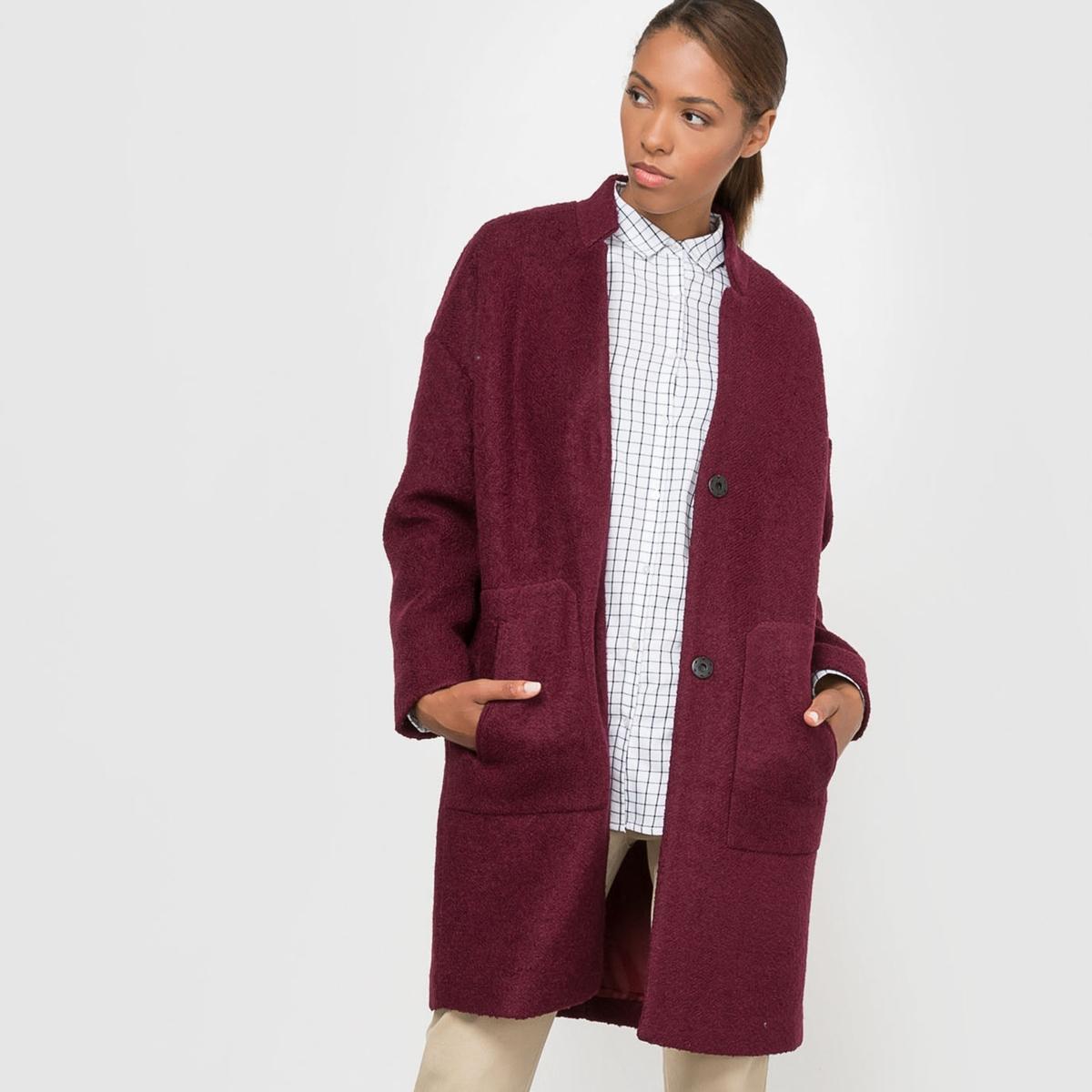 Пальто покроя оверсайз 40% шерсти пальто