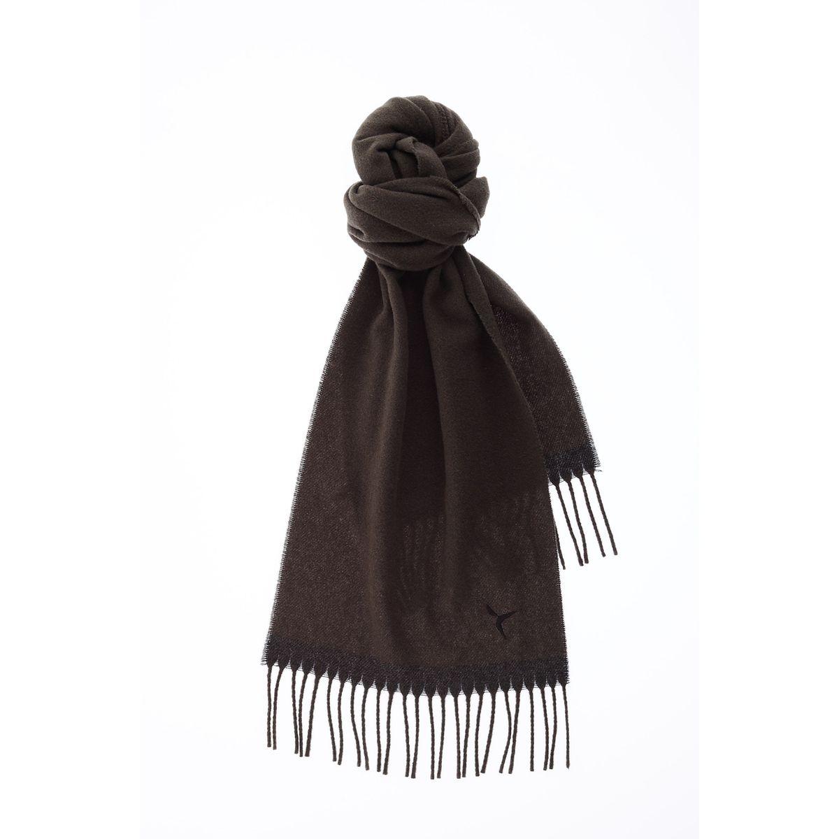 Echarpe a franges bicolore laine vierge
