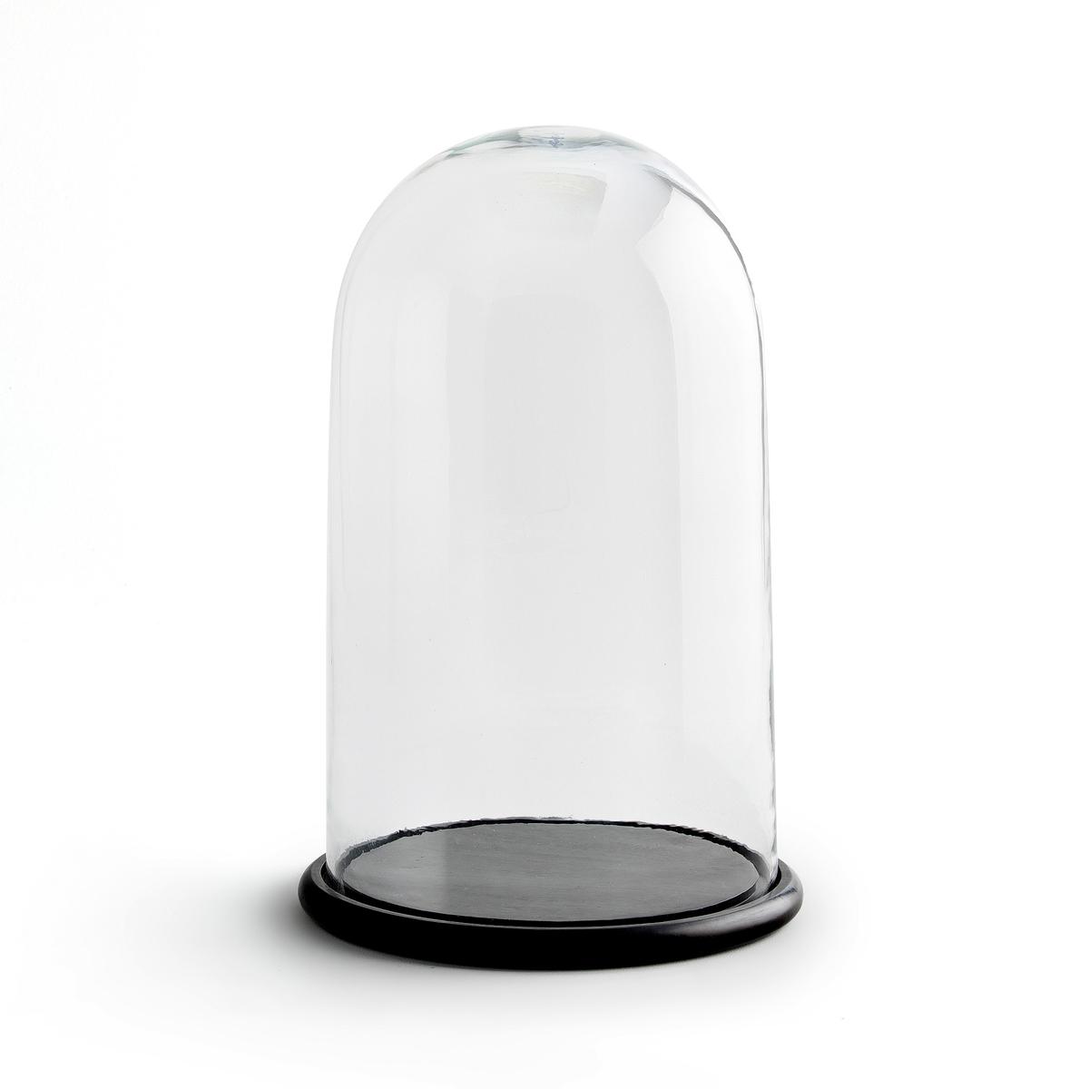 Колпак стеклянный ?lior?e, большая модельПрозрачное стекло. Основание из мангового дерева, покрашенного в чёрный цвет.Высота 45 см x диаметр 27 см.<br><br>Цвет: прозрачный