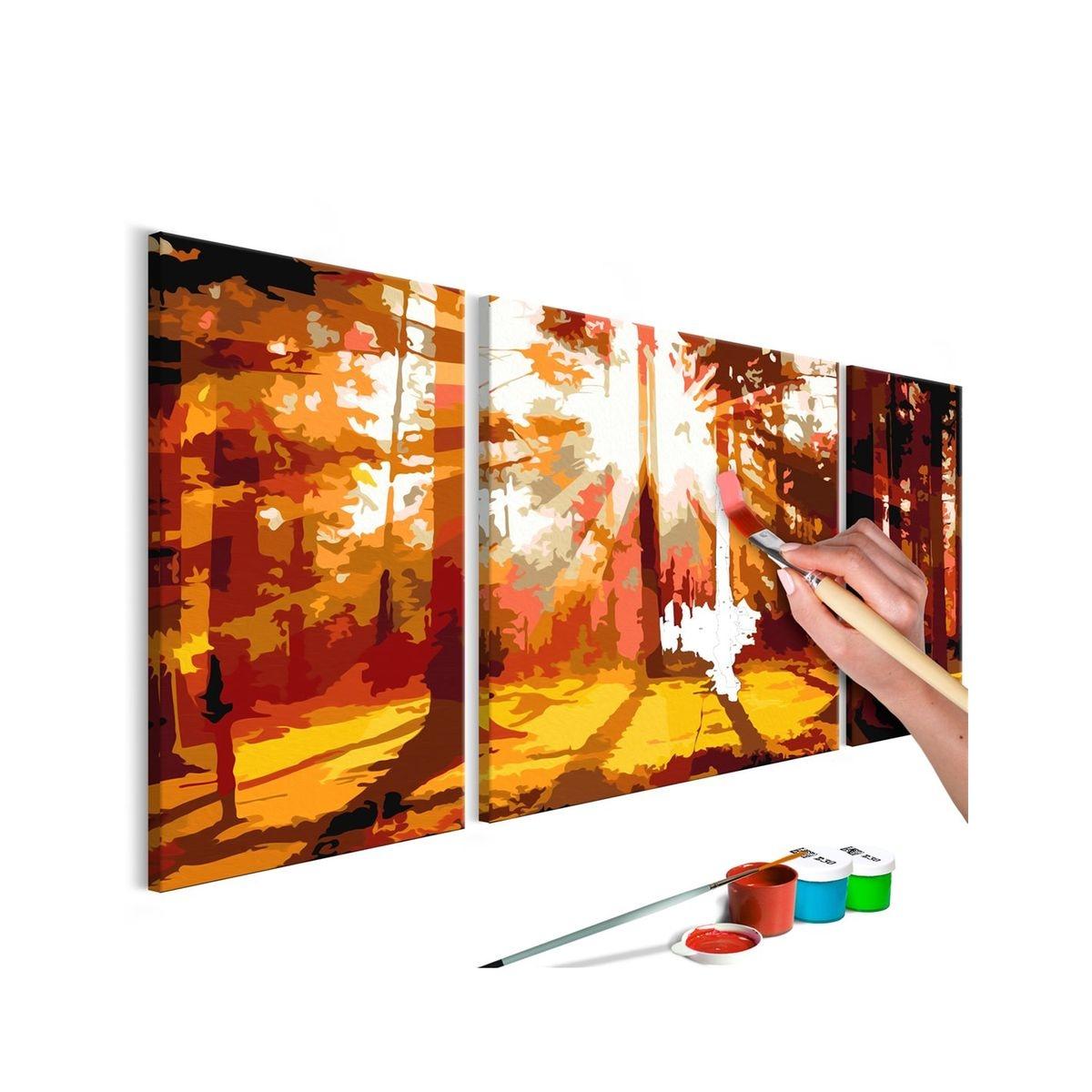 Tableau à peindre soi-même - Forêt (Automne)