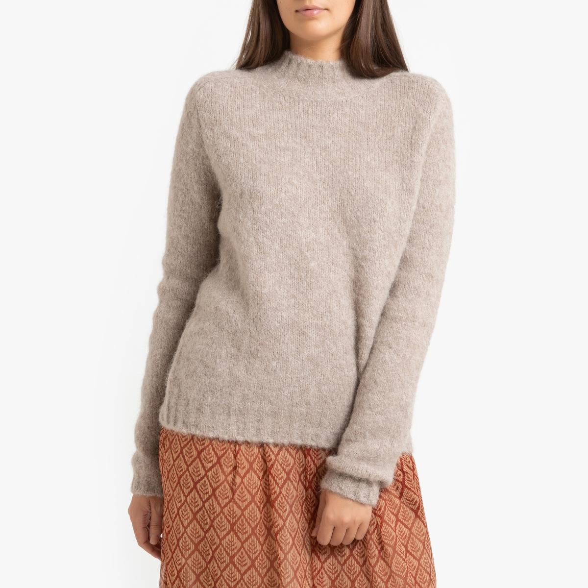 Пуловер La Redoute Из плотного трикотажа MYELITA 3(L) бежевый пуловер la redoute из тонкого трикотажа со шнуровкой l бежевый