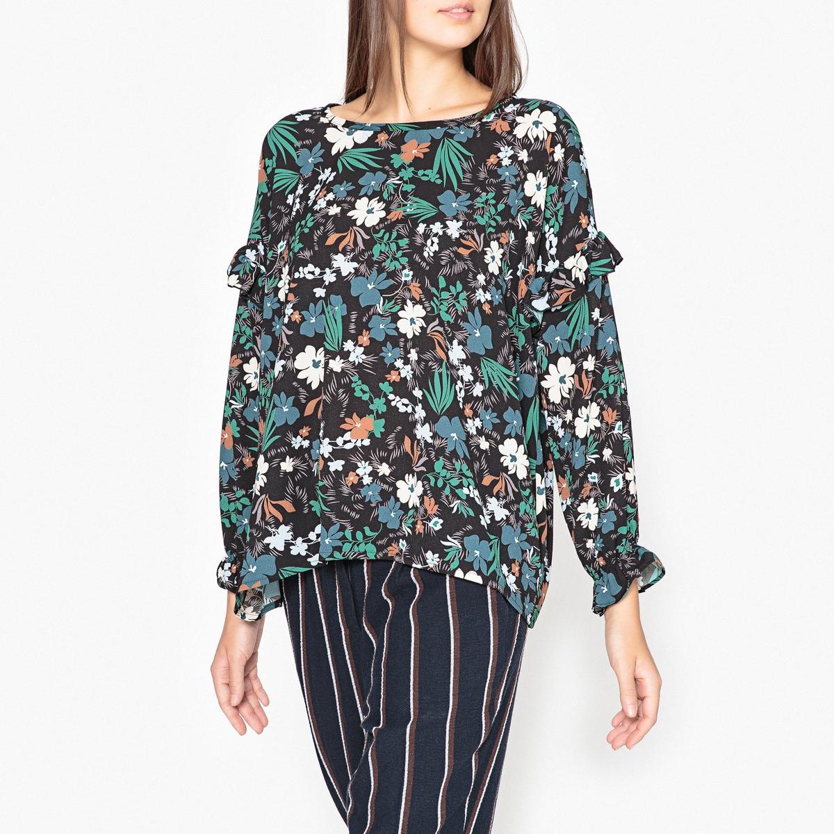 Блузка с воланами, с рисунком GUMP