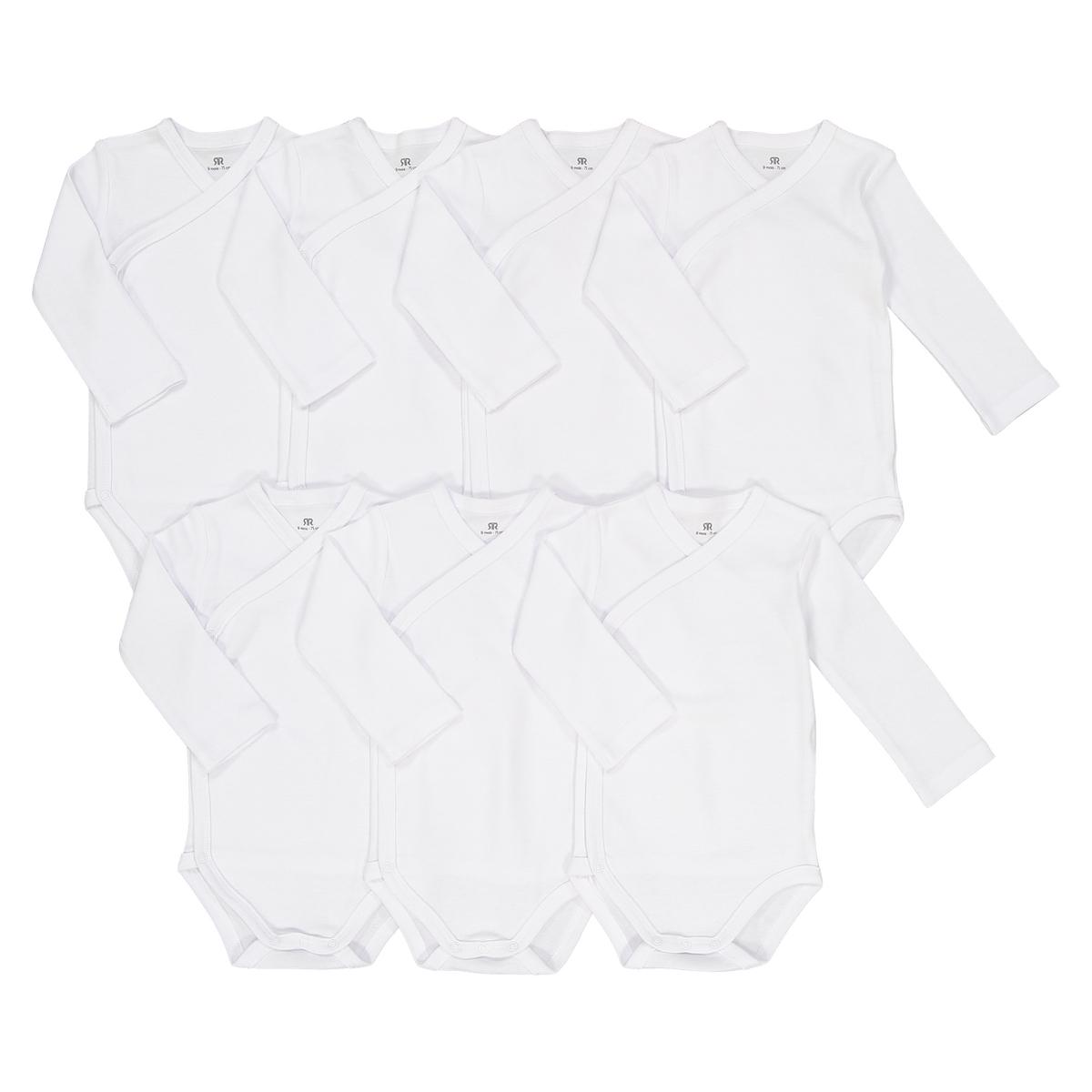 Боди La Redoute Из хлопка мес - года рожденные раньше срока - 45 см белый комплект из боди для la redoute новорожденных мес года рожденные раньше срока 45 см разноцветный