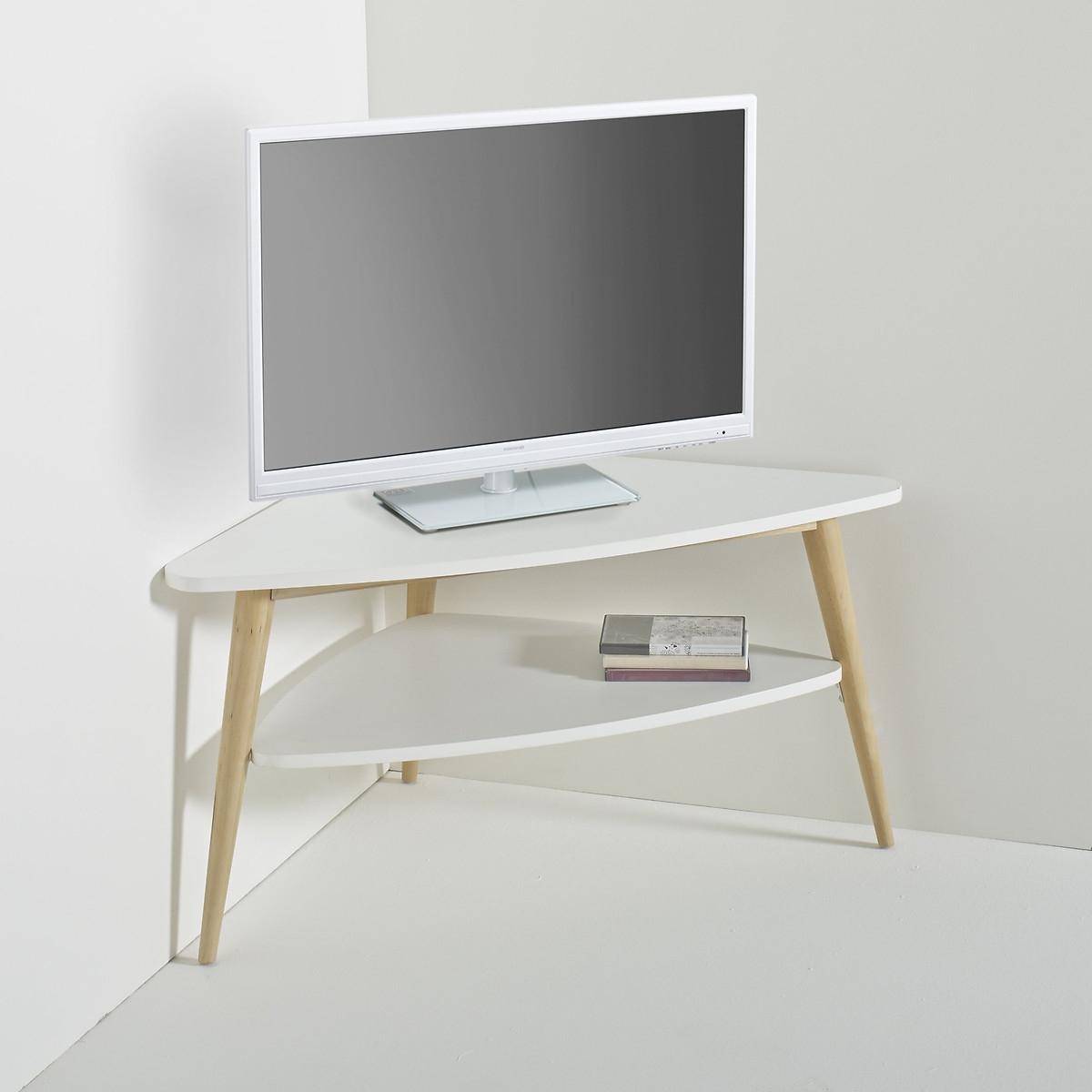 Тумба LaRedoute Под телевизор в винтажном стиле с двумя полками Jimi единый размер белый тумбы под телевизор