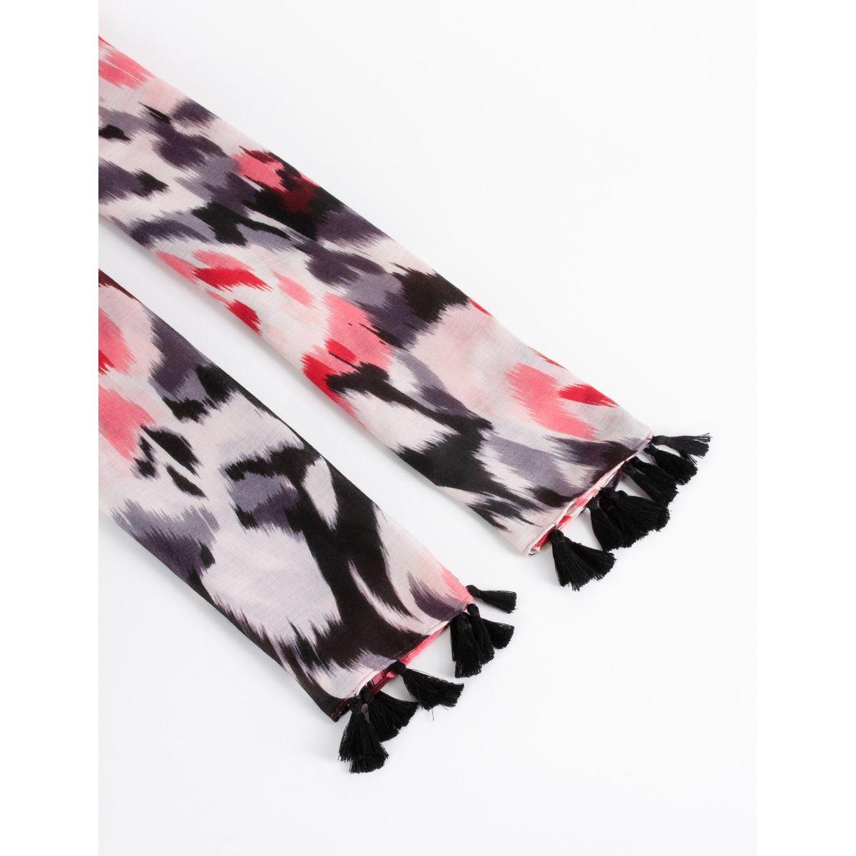 Foulard à imprimé abstrait