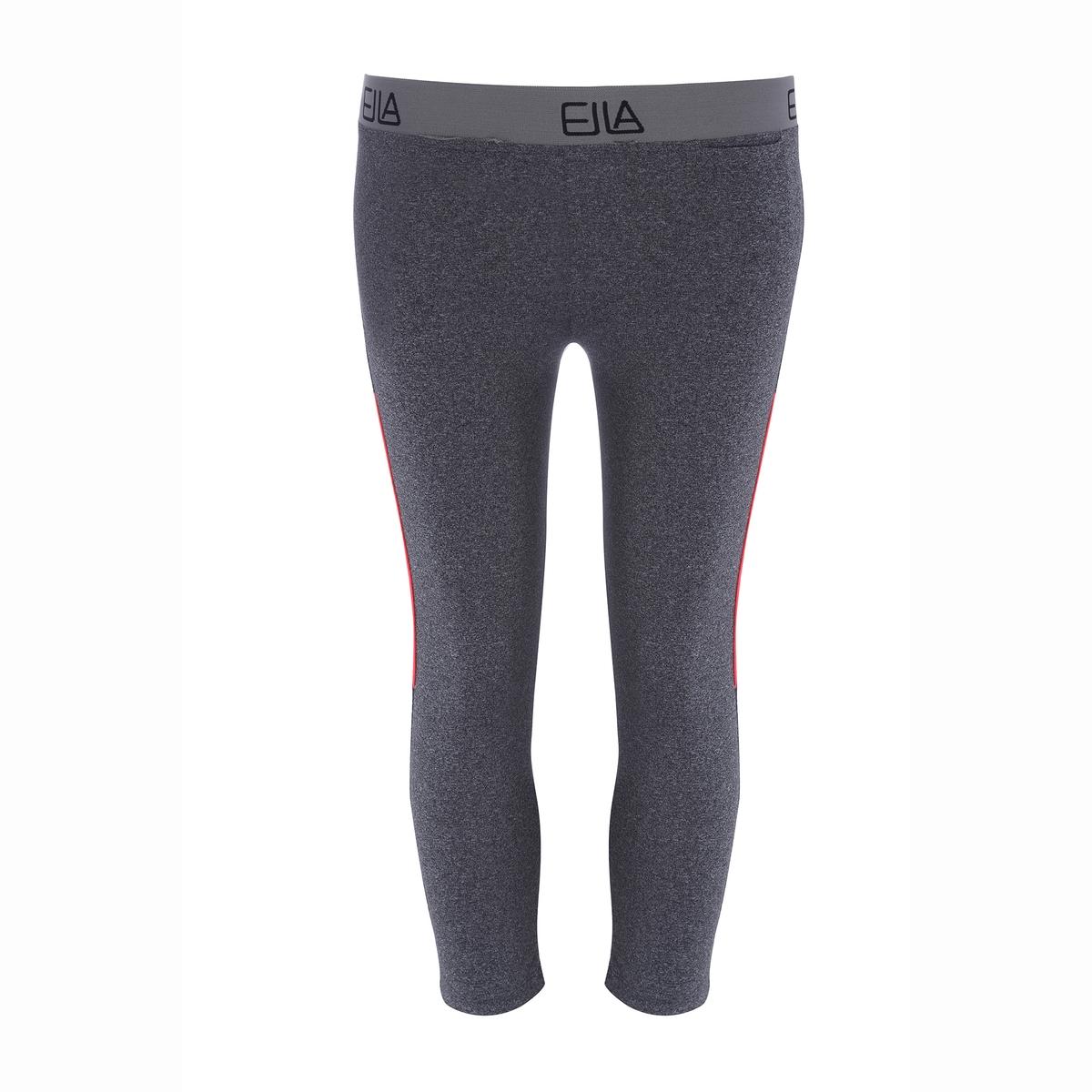 Брюки узкие короткие CHARLIEУзкие брюки 3/4 CHARLIE, антрацитовый меланж с флуоресцентными вставками.  Нежный облегающий материал, 10% стрейч и регуляция влажности. Машинная стирка при 30°C. 90% полиэстера, 10% эластана.<br><br>Цвет: антрацит<br>Размер: S
