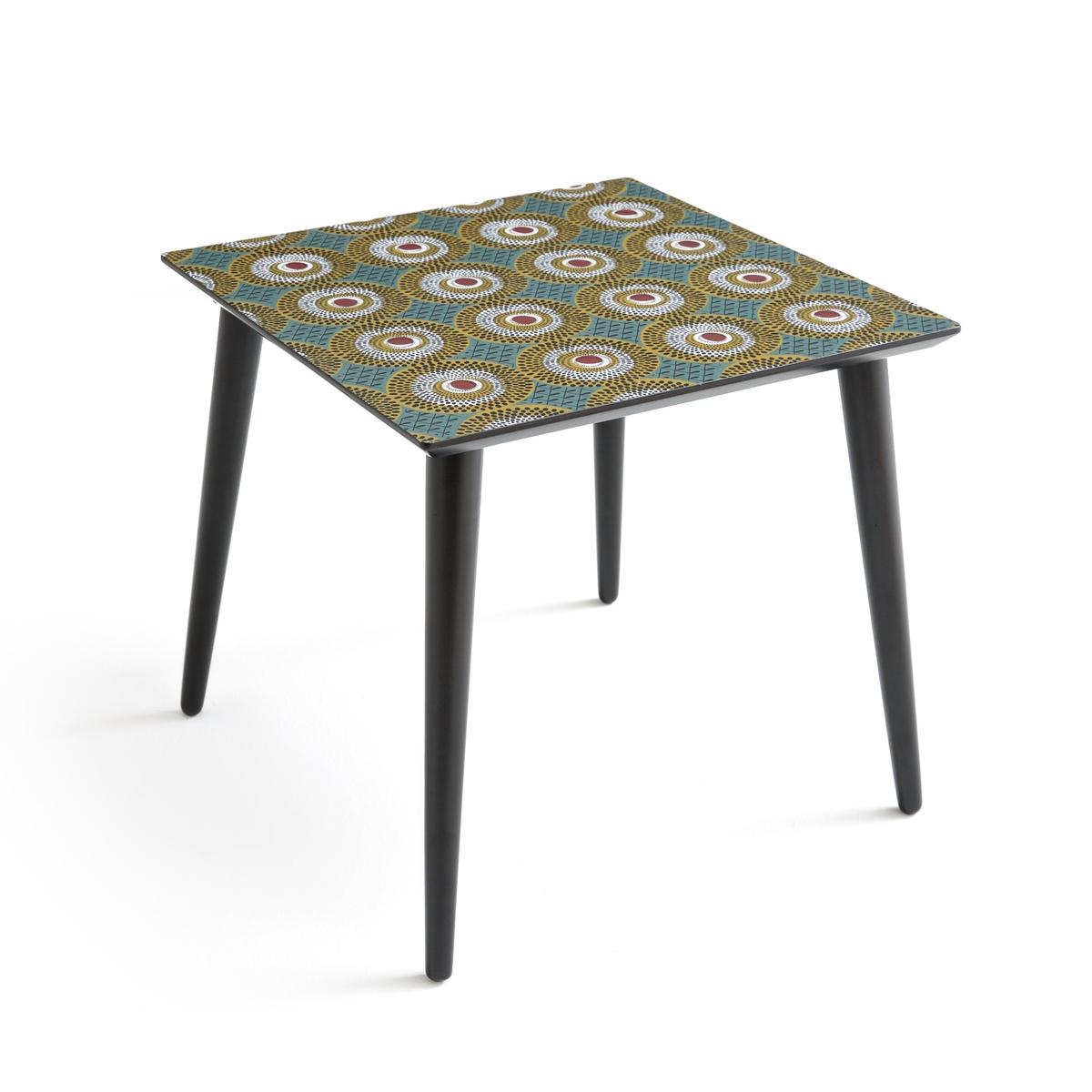 Столик журнальный квадратный со столешницей с рисунком NOMADO