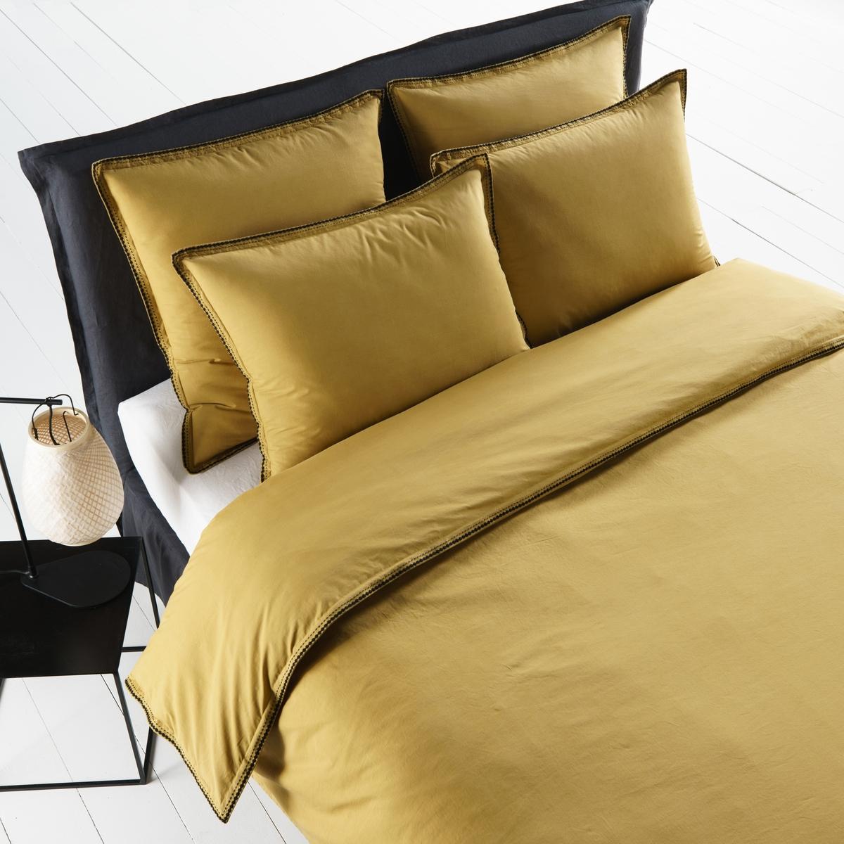 цена Пододеяльник La Redoute Из стираной перкали Linostole 260 x 240 см желтый онлайн в 2017 году