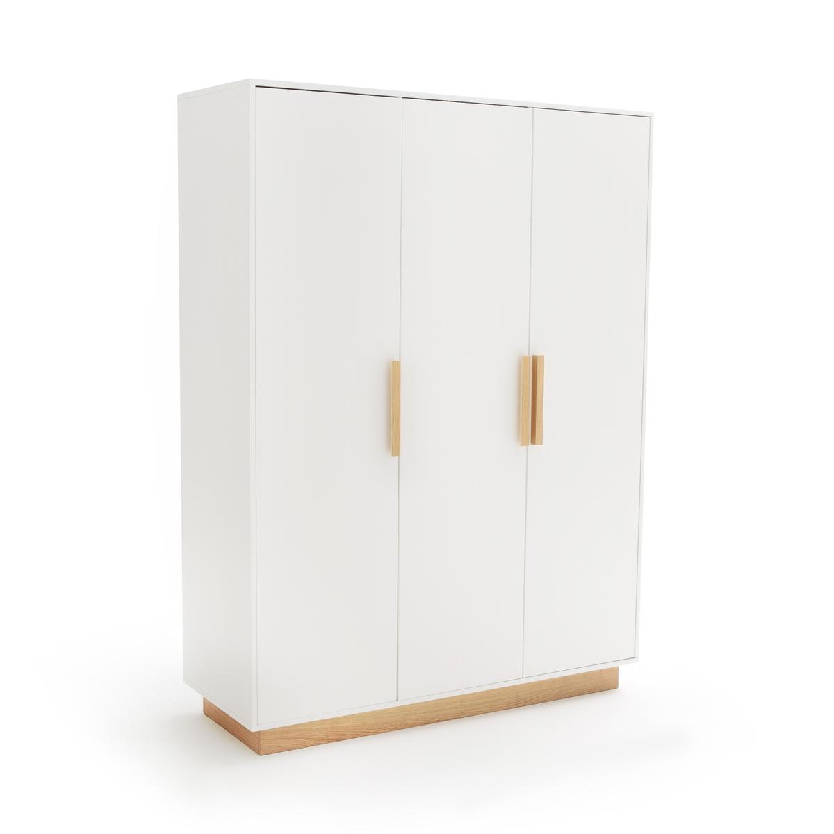 Шкаф LaRedoute С 3 дверцами FABI единый размер белый