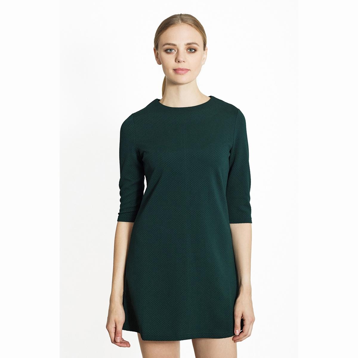 Платье короткоеКороткое платье с рукавами 3/4.  Круглый вырез. Состав и описаниеМатериалы: 100% полиэстер.Марка: Migle+MeУходСледуйте рекомендациям по уходу, указанным на этикетке изделия.<br><br>Цвет: зеленый<br>Размер: L