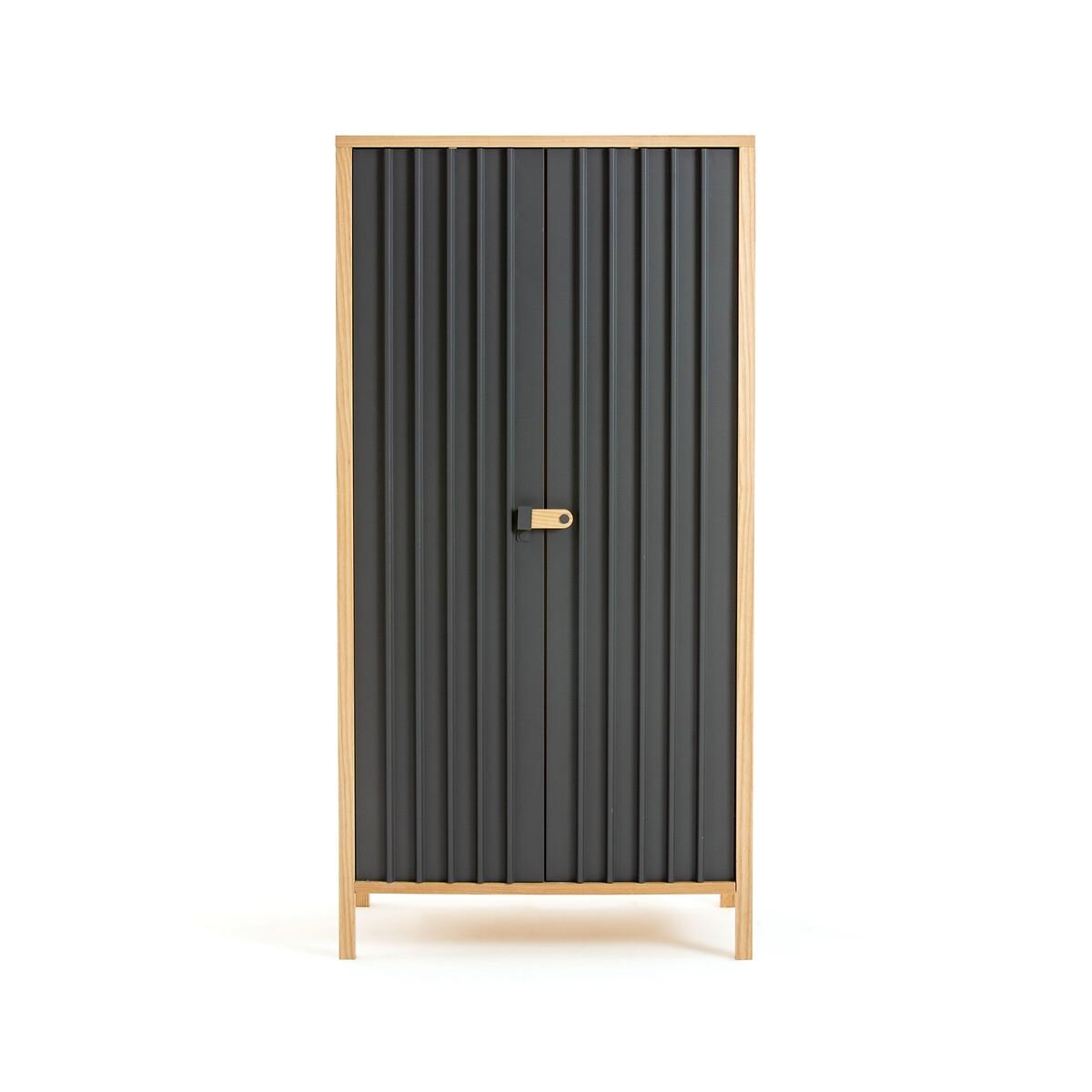 Шкаф LaRedoute С 2 дверками Bianca единый размер серый