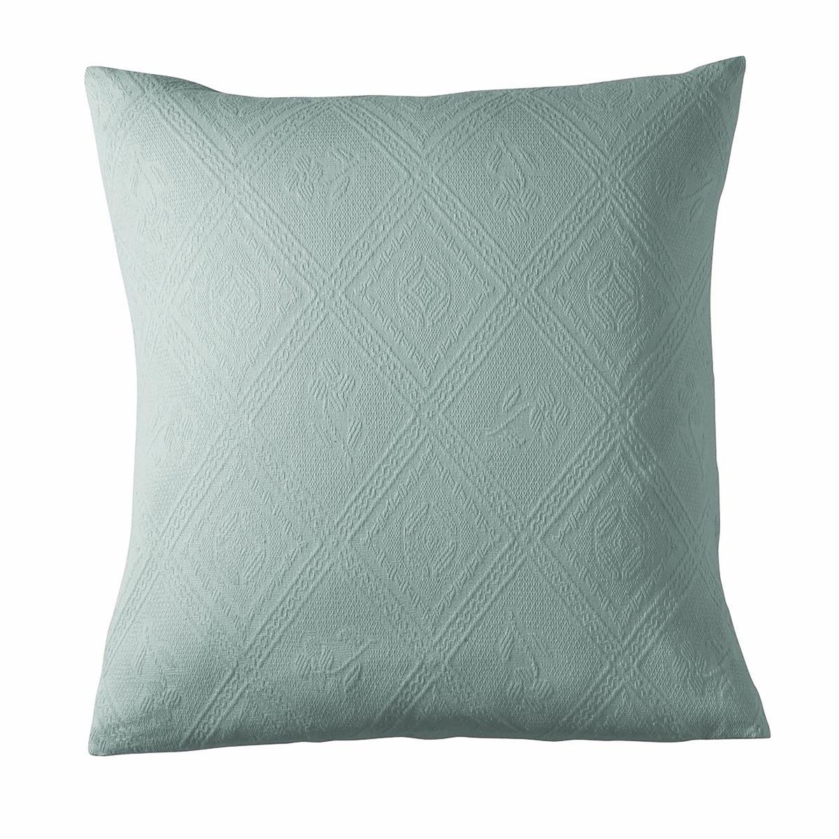 Чехол на подушку из жаккардовой ткани, INDOХарактеристики наволочки на подушку-валик или наволочки :- Форма с запахом.- Машинная стирка при 40 °С.<br><br>Цвет: антрацит,бежевый,бледный сине-зеленый,гранатовый,облачно-серый,Синий, индийский