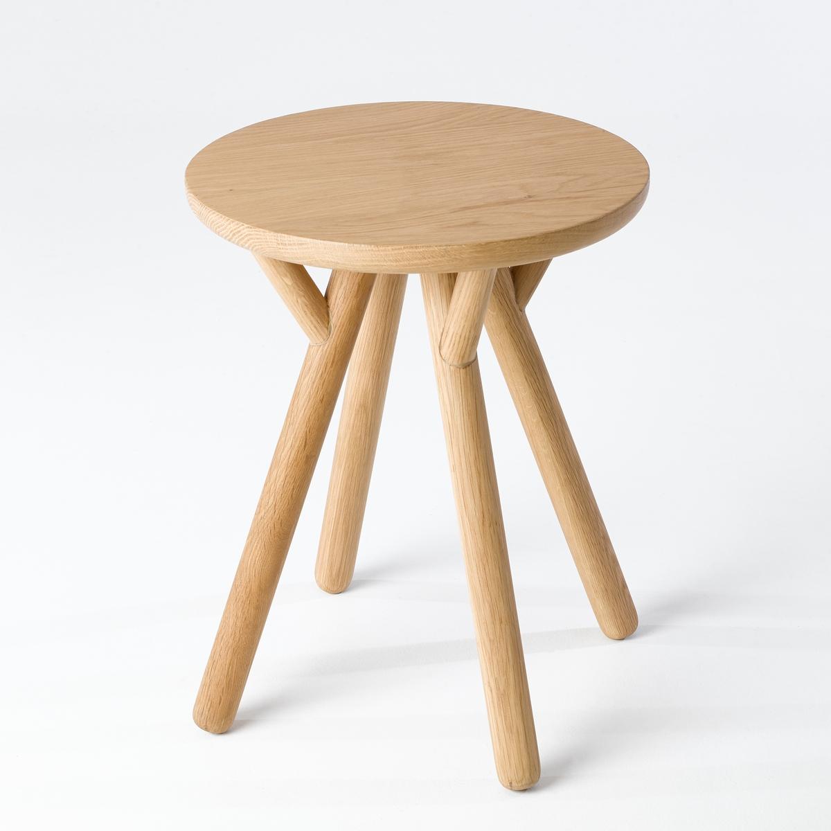 Табурет LaRedoute Прикроватный из массива дуба Scarlatin единый размер каштановый столик laredoute журнальный из дуба покрытого олифой adelita единый размер каштановый
