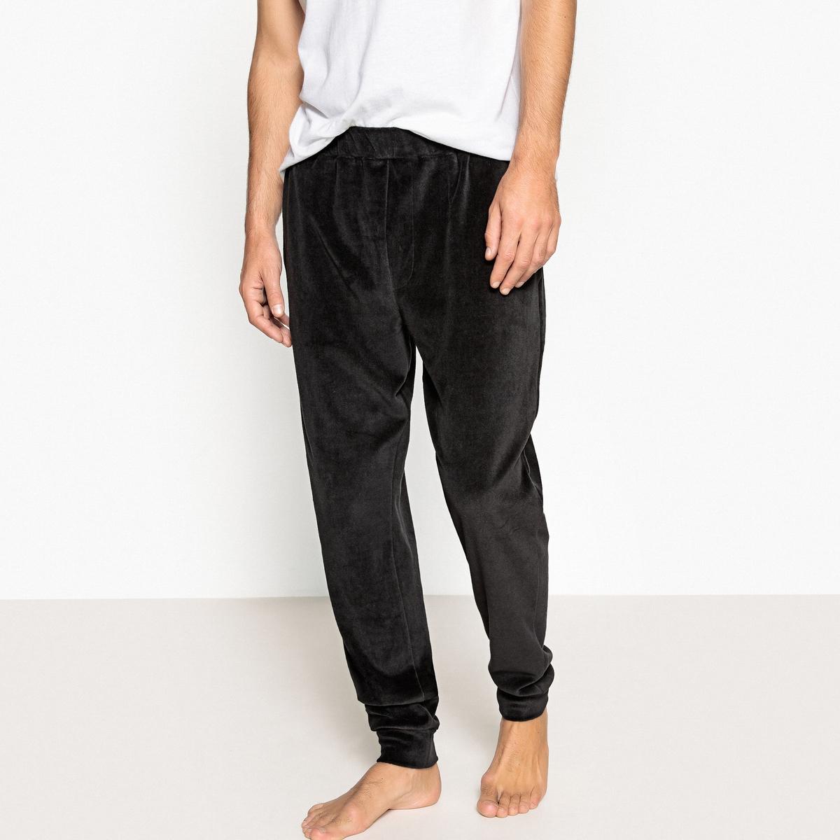 Брюки пижамные из велюра брюки скинни из велюра