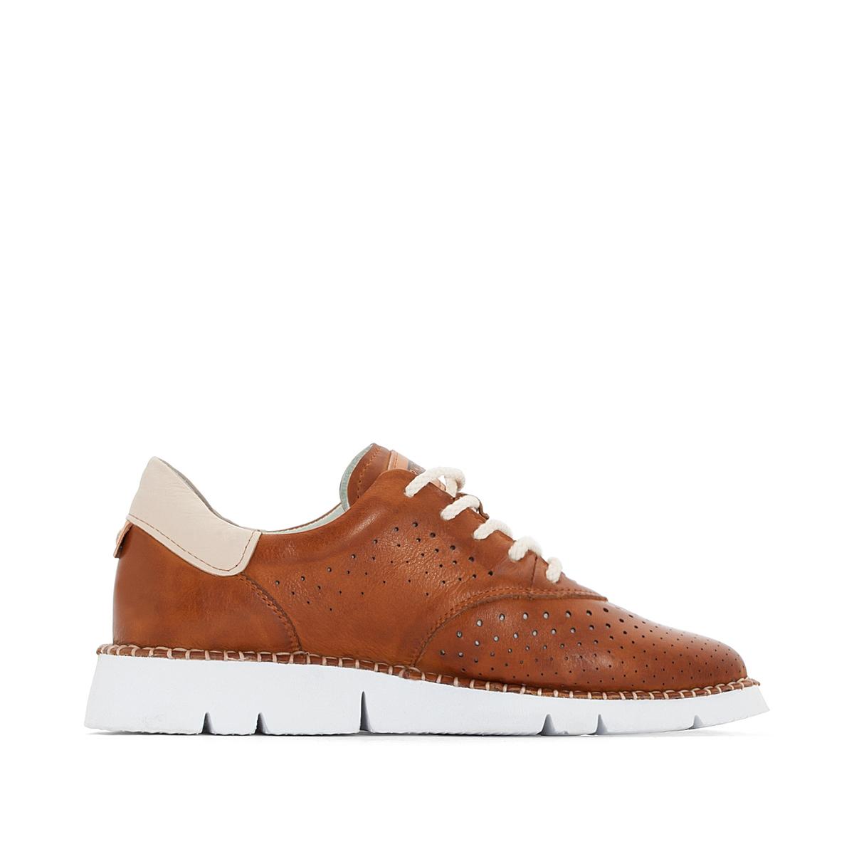 Ledersneakers Vera W4L   Schuhe > Sneaker   Braun   PIKOLINOS