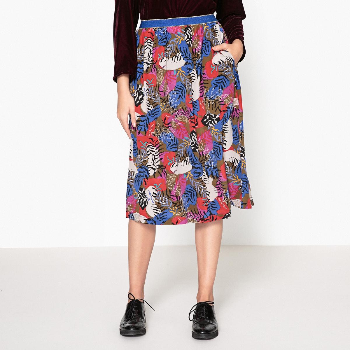 Юбка шёлковая с рисунком LIZ юбка liz lisa