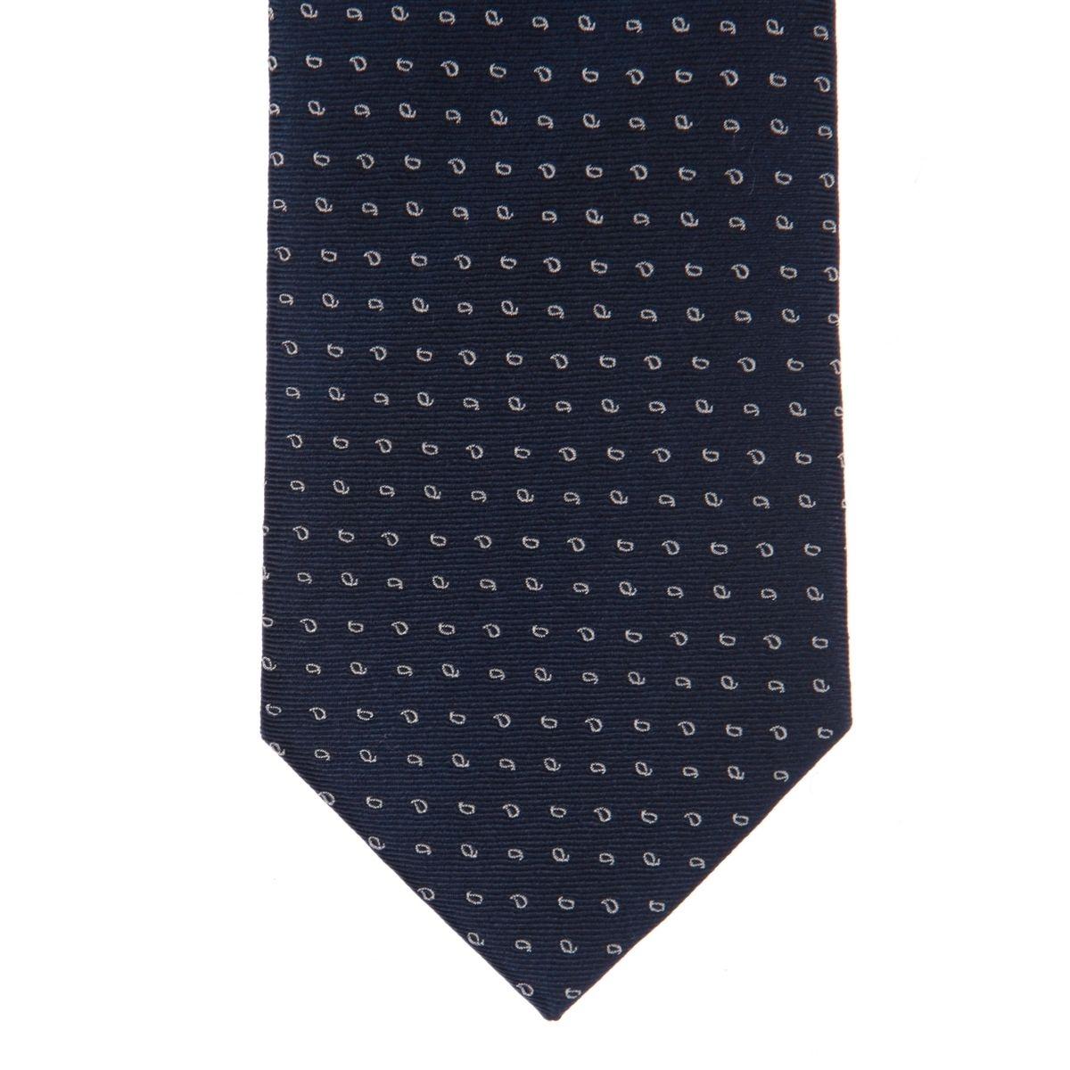 Cravate pure soie à petit motif goutte