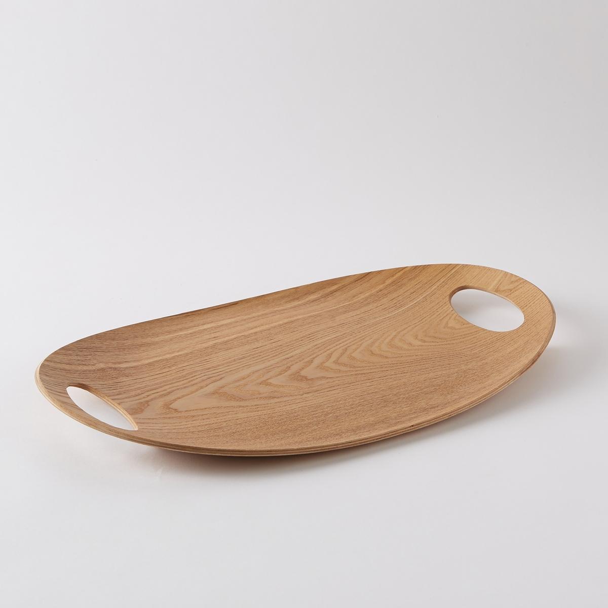 Поднос сервировочный овальныйХарактеристики сервировочного подноса:- Выполнен из очень прочной ивовой древесины.- Длина 45 x ширина 28 см.<br><br>Цвет: светло-коричневый