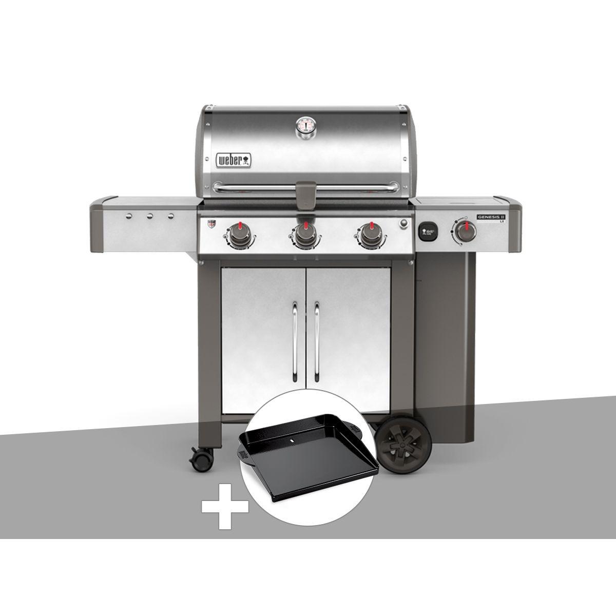 Barbecue gaz Weber Genesis II LX S-340 GBS Inox + Plancha