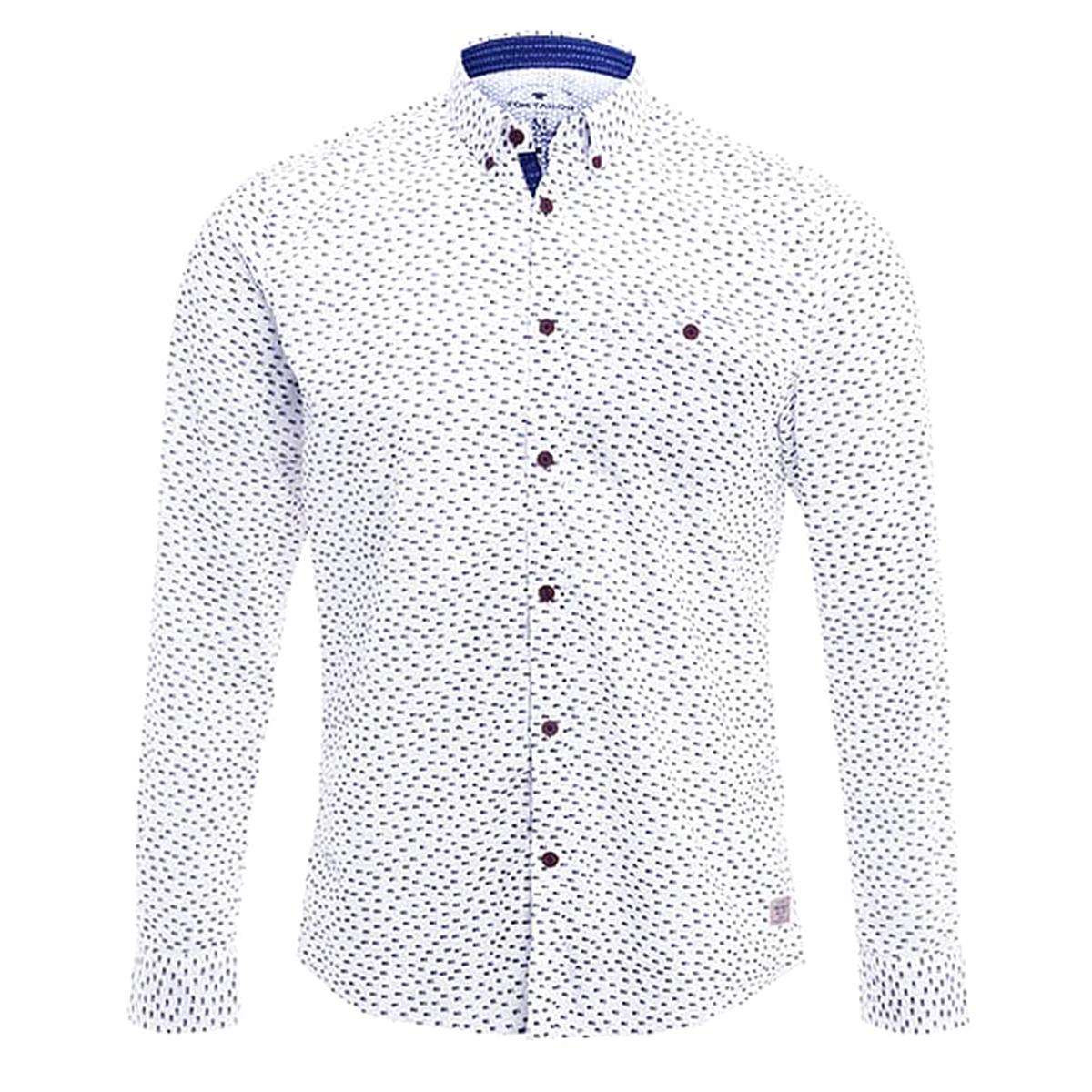 Рубашка стандартного покроя с рисунком