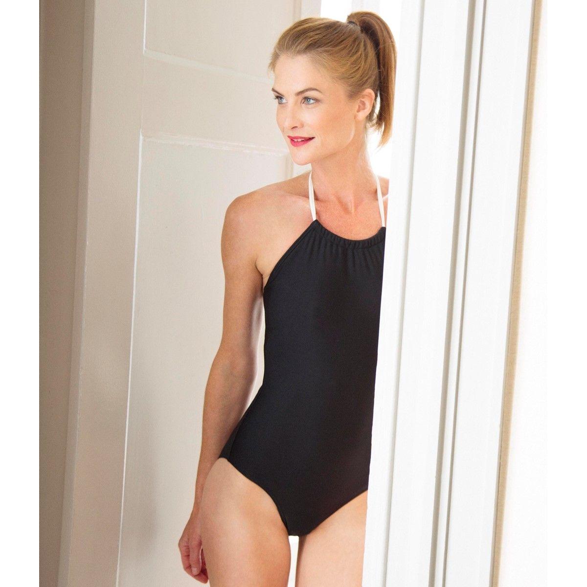 Maillot de bain une pièce post opératoire avec poches pour prothèses mammaires