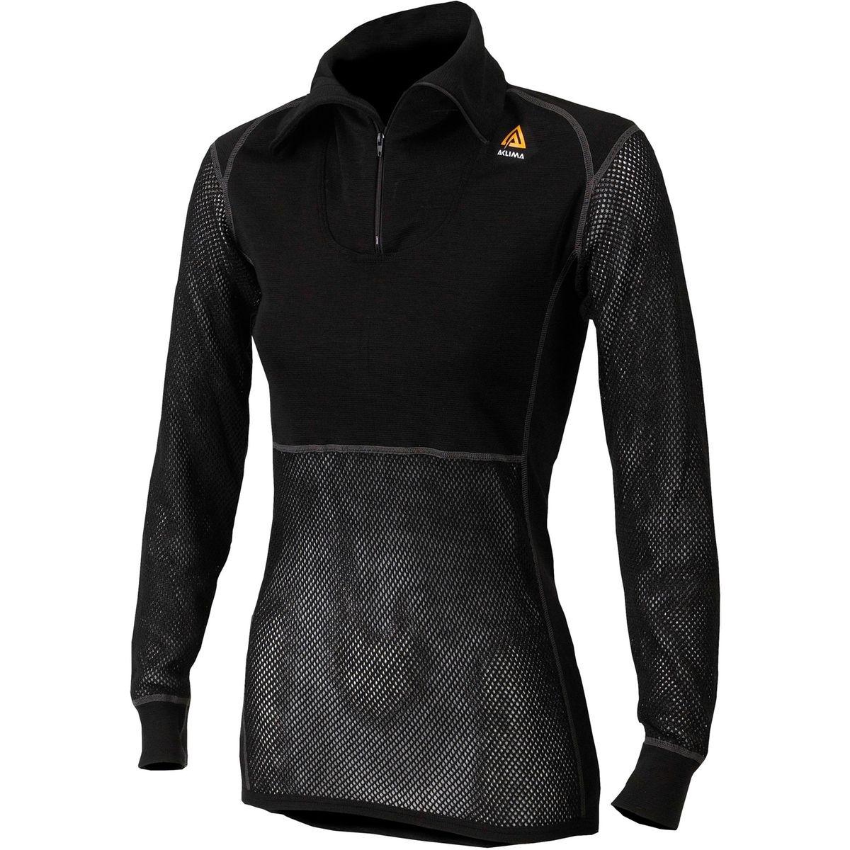 WoolNet - Sous-vêtement - with Zip noir