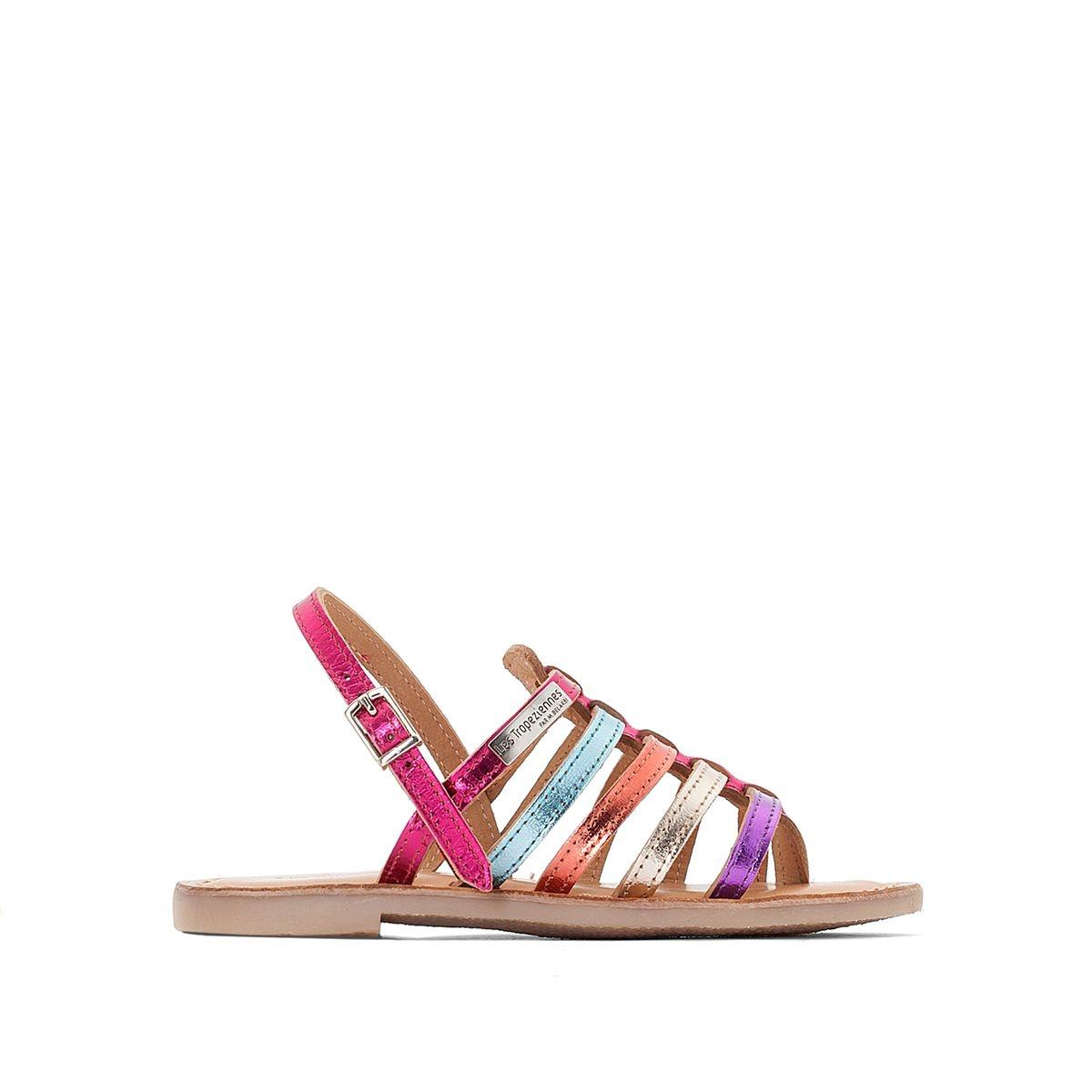Sandales cuir plates Hérisson