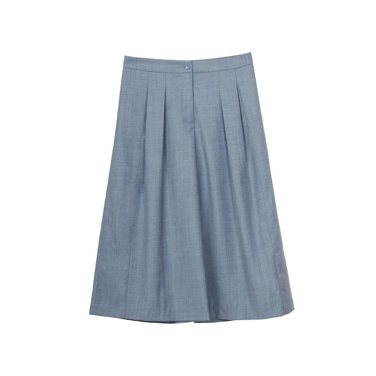 Jupe culotte en laine mi mollet street style chic pantacourt hiver