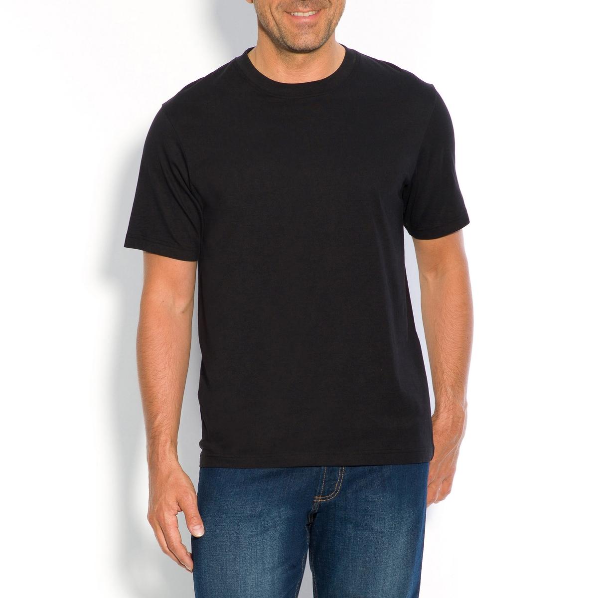 Футболка с круглым вырезом и короткими рукавами, 100% хлопокФутболка с круглым вырезом и короткими рукавами, 100% хлопок.  Необходимая вещь для каждого гардероба, футболка из 100% хлопка  представлена в сдержанной цветовой гамме, чтобы идеально сочетаться с  Вашими рубашками и пуловерами в любой сезон. Футболка из 100% хлопка  (65% полиэстера, 35% хлопка для модели цвета серый меланж). Длина 75 см.- длина спереди : 74 см для размера 50/52 и 85 см для размера 94/96.- длина рукавов : 22,8 см для размера 50/52 и 29,4 см для размера 94/96.<br><br>Цвет: кирпичный,синий меланж<br>Размер: 66/68.70/72.74/76.70/72