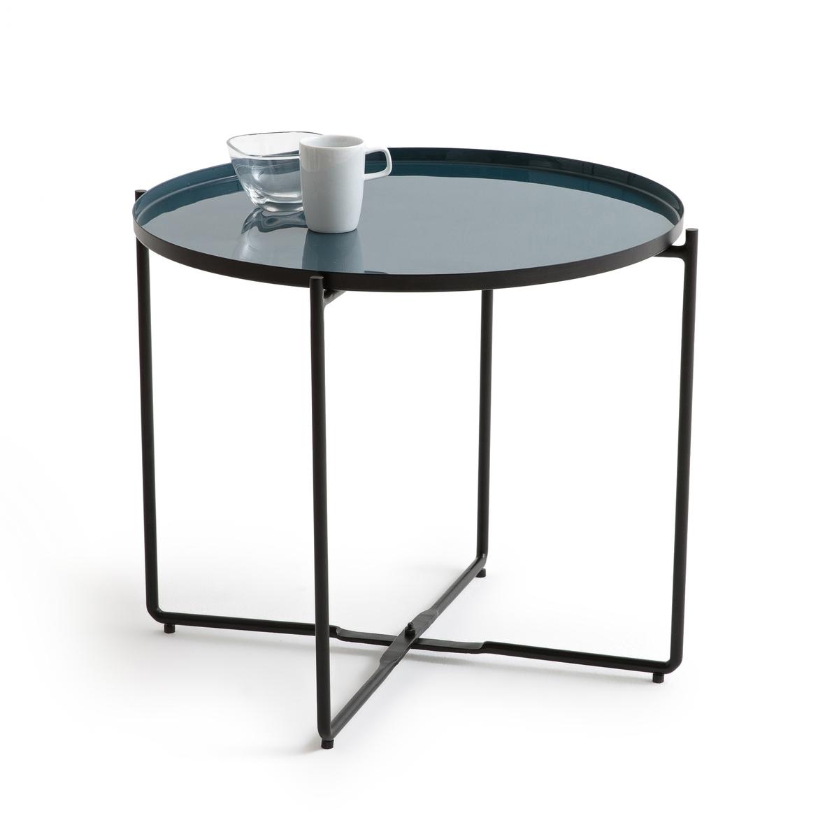 Столик журнальный компактный TIVARAОписание:Журнальный столик TIVARA. Компактный столик можно использовать в качестве журнального или вспомогательного. Съемная столешница позволяет переносить бокалы и чаши для аперитива . Ножки легко складываются, что позволяет не загромождать пространство.Характеристики журнального столика Tivara :Съемная столешница из эмалированной стали, диаметр 50 смСкладные ножки из лакированной стали с покрытием матовой эпоксидной краской черного цветаДанная модель стола не требует сборкиДругие модели коллекции Tivara вы найдете на laredoute.ruРазмеры журнального столика Tivara :Диаметр : 50 смВысота : 42 см.Размеры и вес упаковки1 коробкаШ. 56 x В. 16 x Г. 56 см7,4 кг<br><br>Цвет: сине-зеленый
