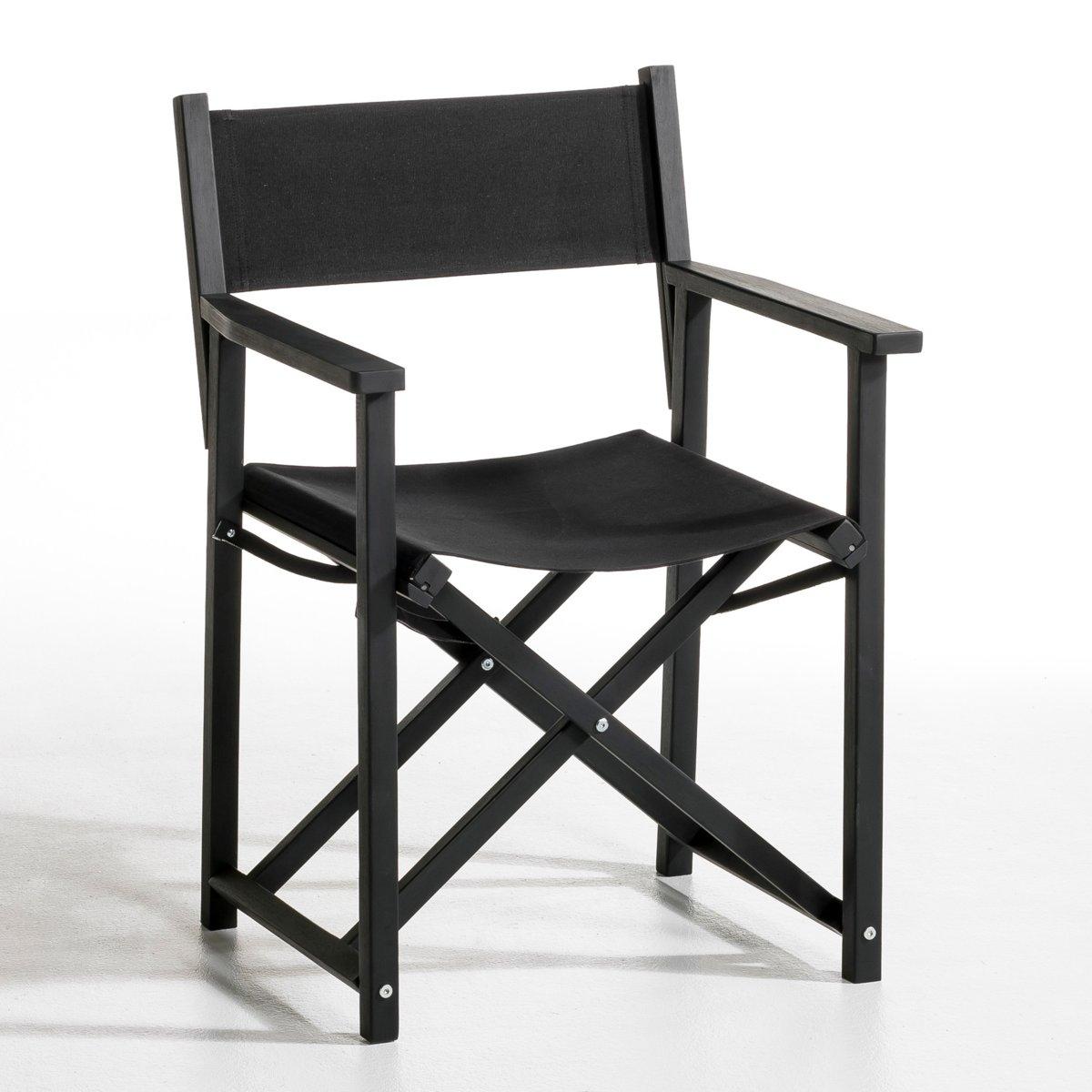 Кресло режиссерское  AlfredСкладное, удачно смотрится и в помещении, и на природе. Из акации, черный матовый цвет . Покрытие-натуральный хлопок, подходит для использования на природе . Размеры. .59 x .54 x .85 см.. Высота. 47 см.Сочетается с другими креслами режиссера Alfred.<br><br>Цвет: черный
