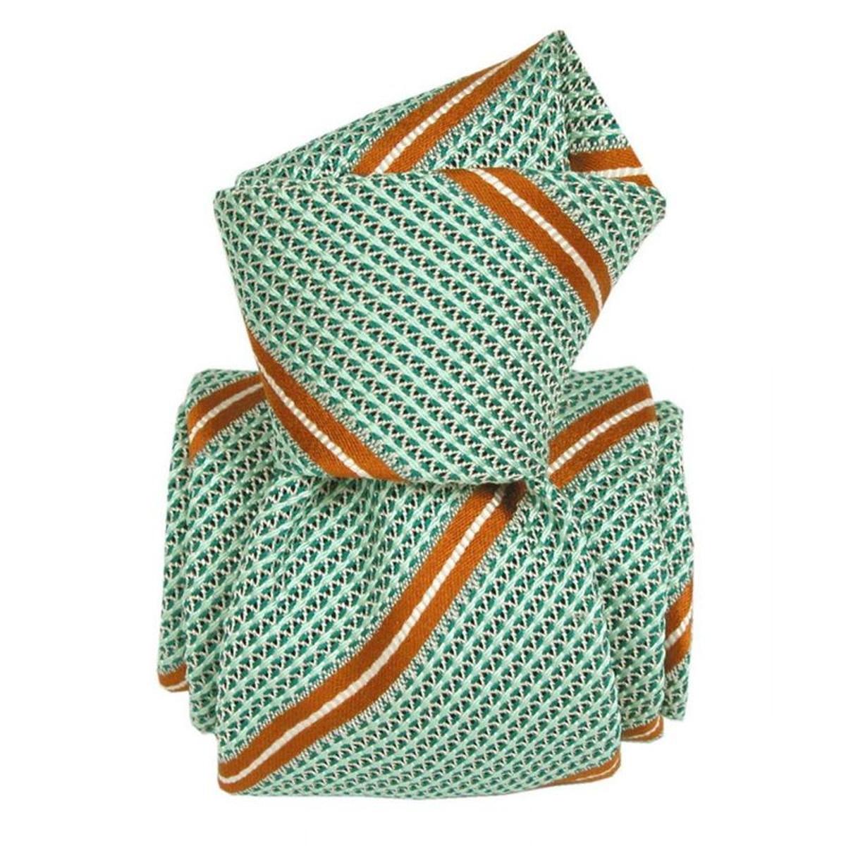 Cravate grenadine de soie villa. Soie Club / rayé