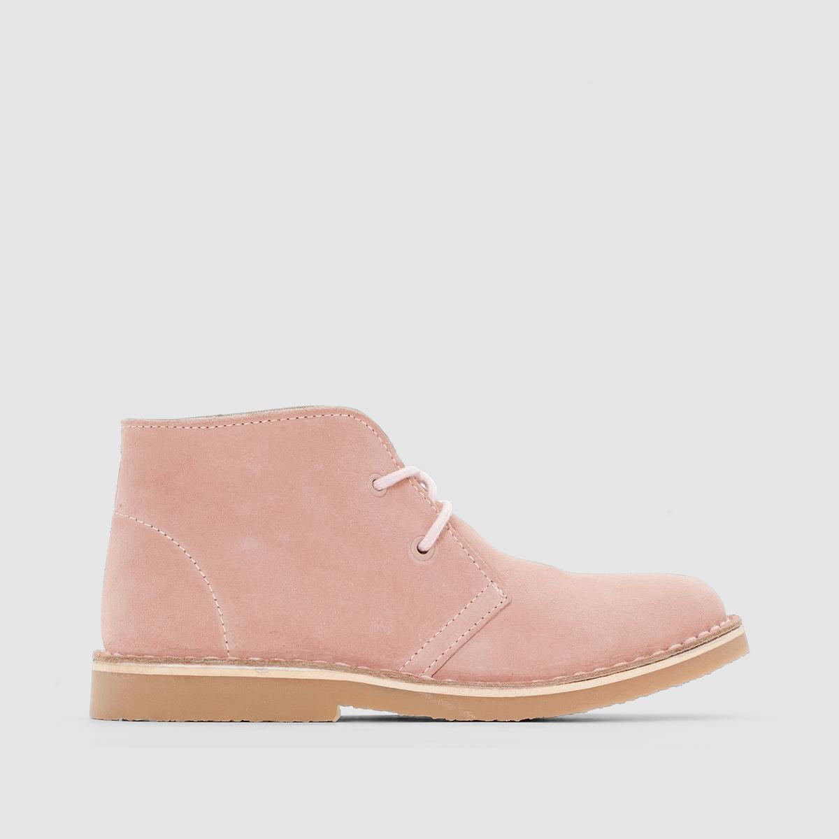 Ботинки из невыделанной кожиКрасивая мягкая невыделанная кожа в винтажном и, одновременно, современном стиле: ботинки, созданные для спокойных прогулок или, по настроению, для бега и динамичных игр!<br><br>Цвет: розовый телесный