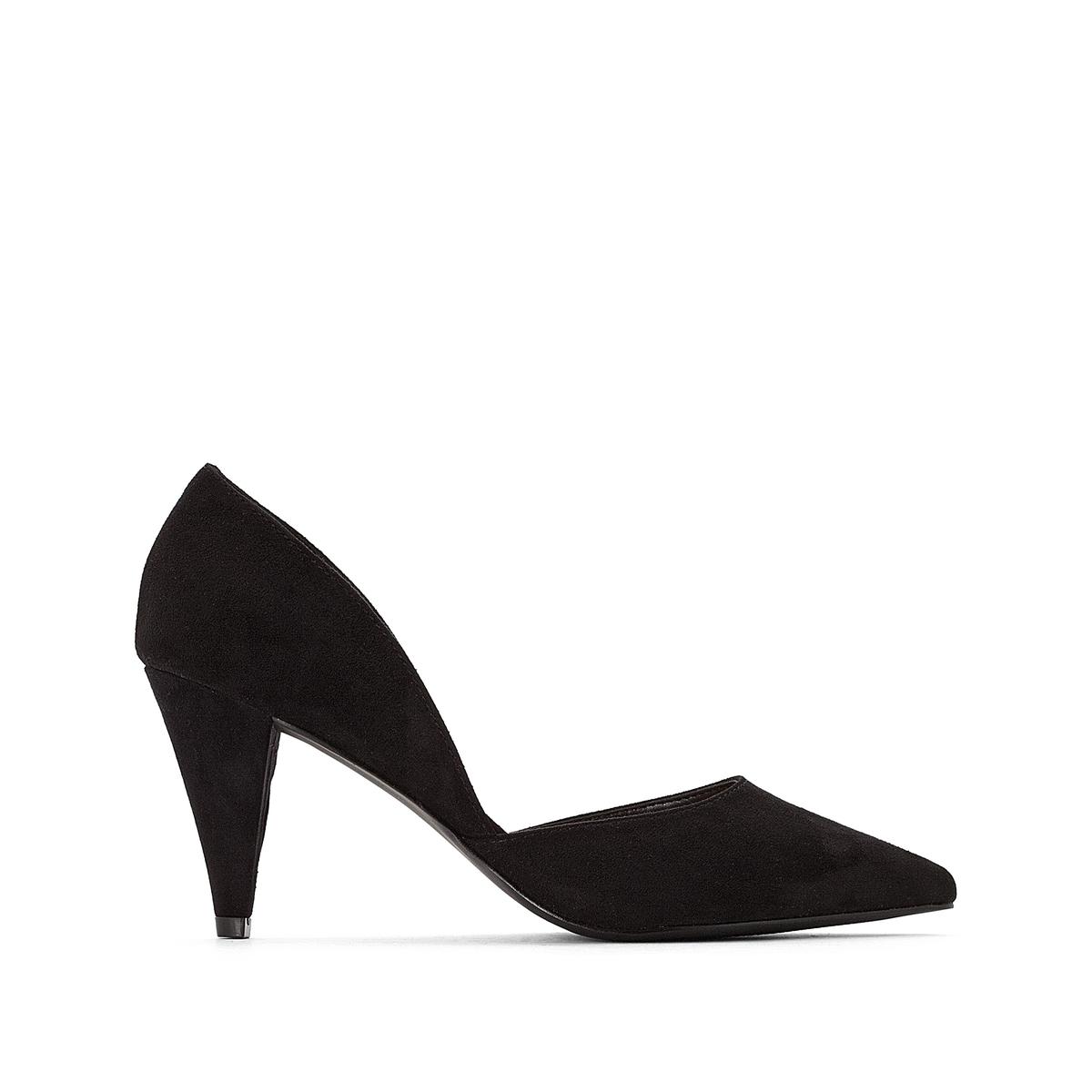Туфли LaRedoute С вырезами по бокам на каблуке 36 черный
