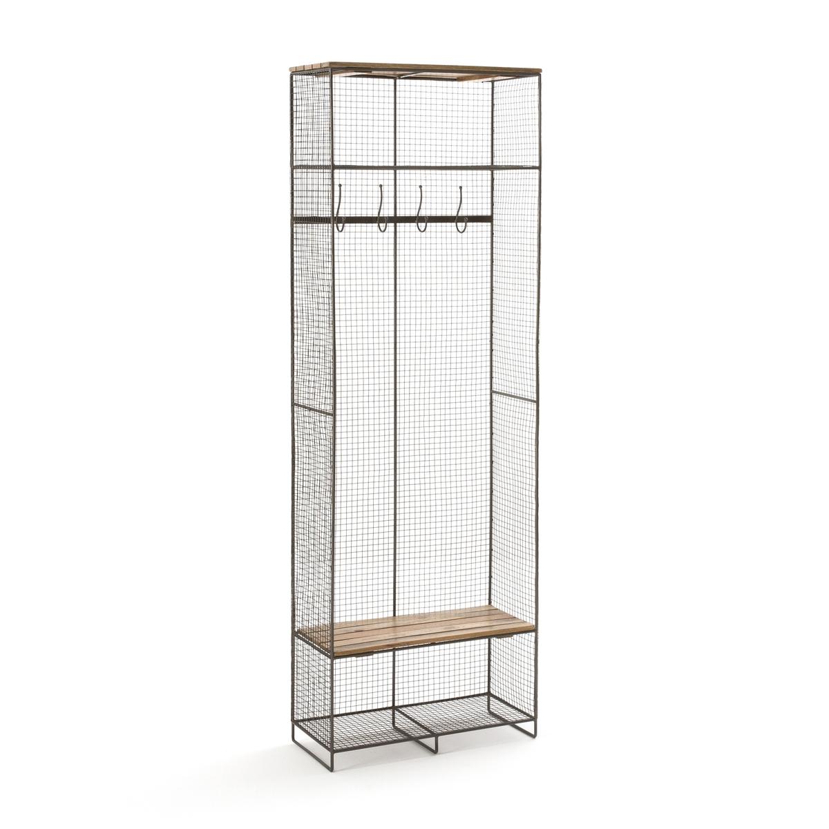 Шкаф La Redoute Из металла и дерева Areglo единый размер каштановый этажерка из решетчатого металла и массива мангового дереваareglo