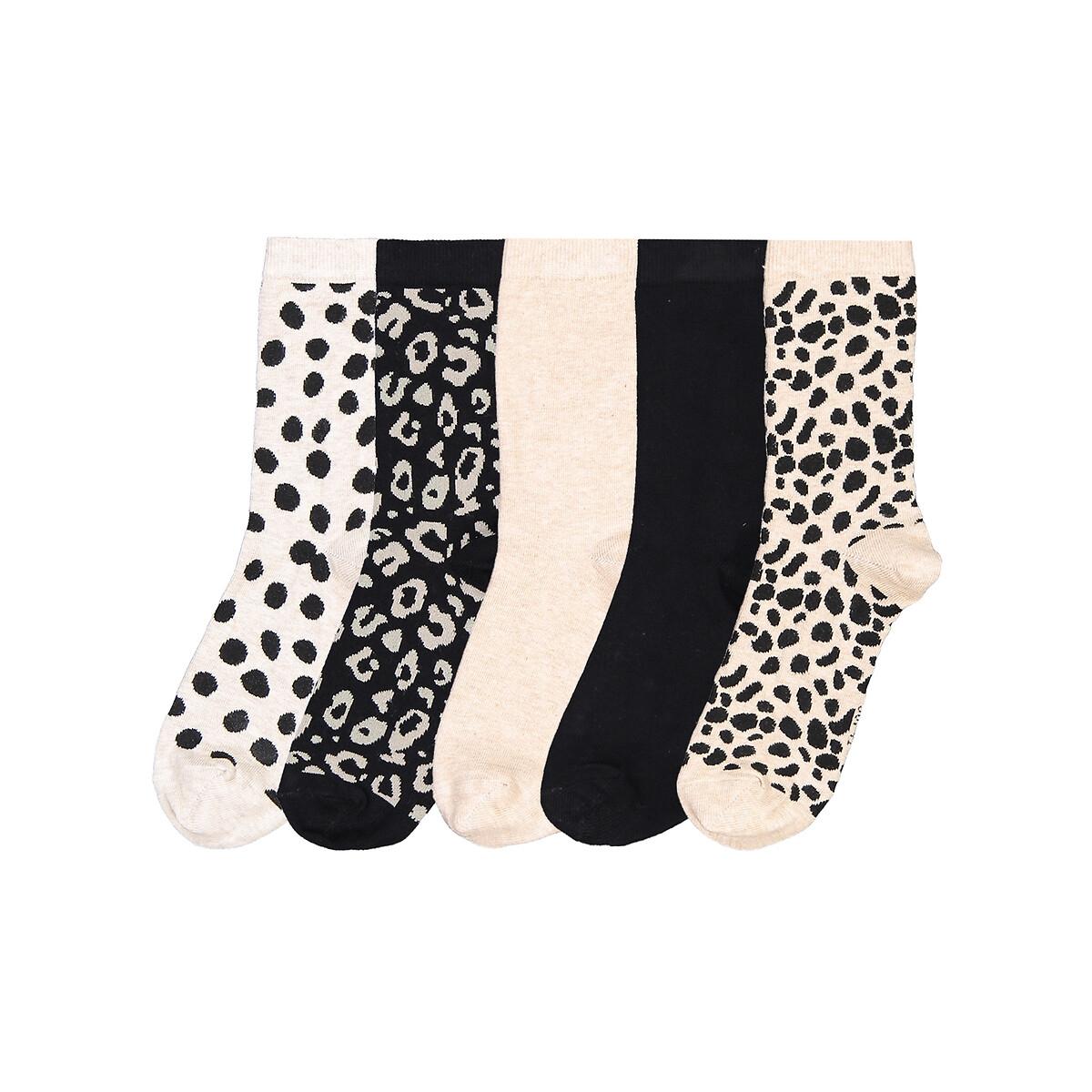 Комплект из 5 пар носков LaRedoute La Redoute 38/41 разноцветный комплект из 3 пар носков laredoute la redoute 35 38 синий