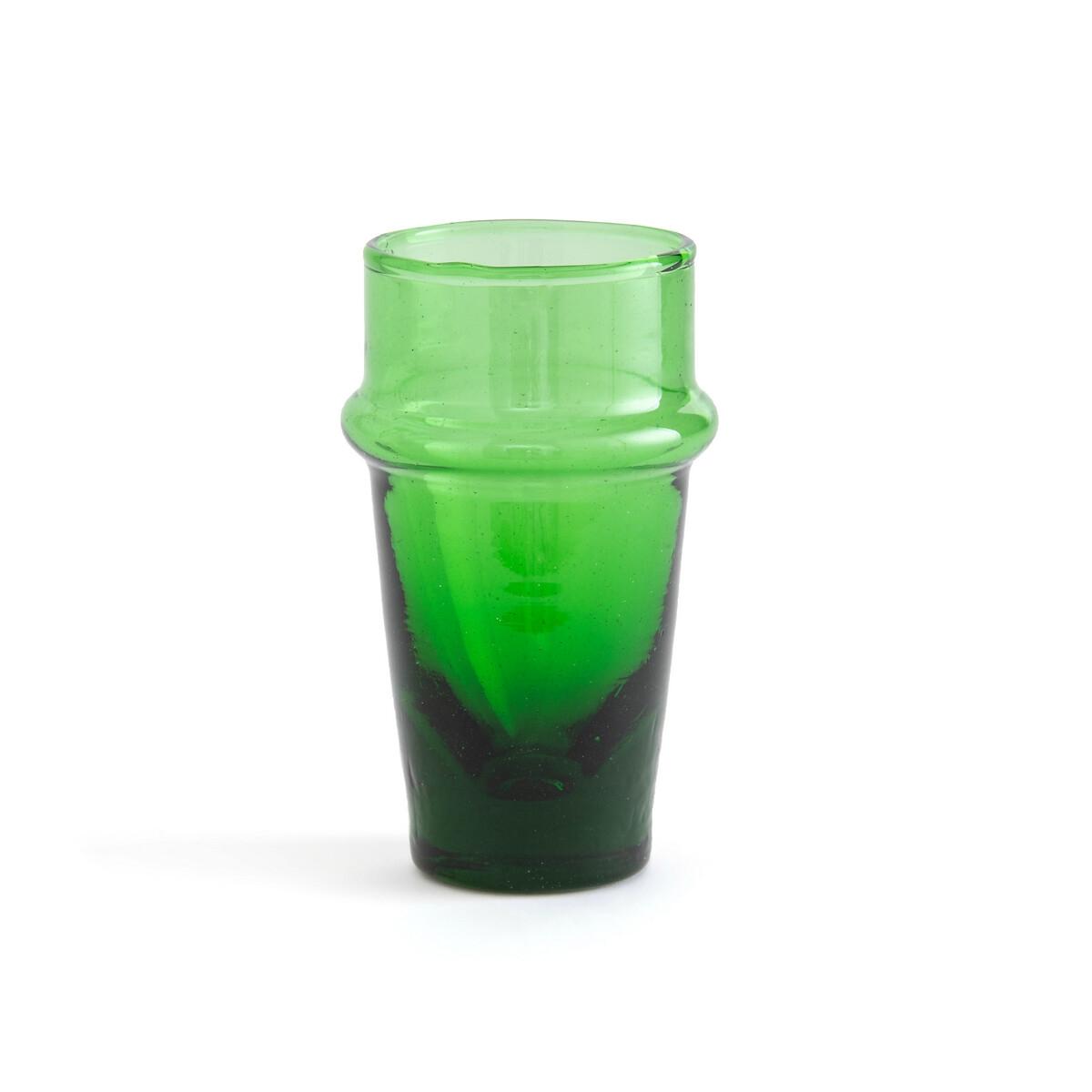 6 стаканов LaRedoute Из дутого стекла Calistrade единый размер зеленый графин laredoute из дутого стекла calebasse единый размер другие