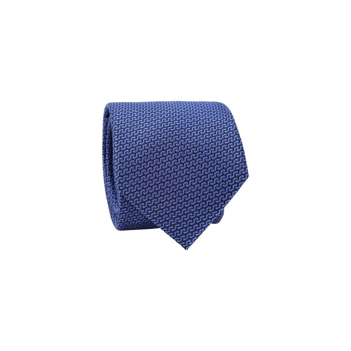 Cravate 100% soie motif géométrique