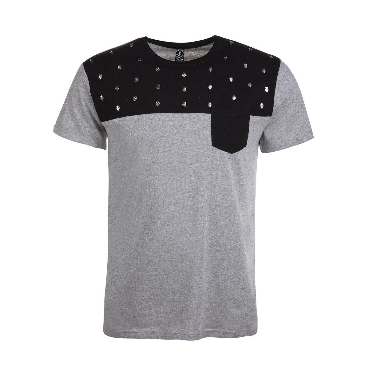 T-shirt à manches courtes imprimé et poche