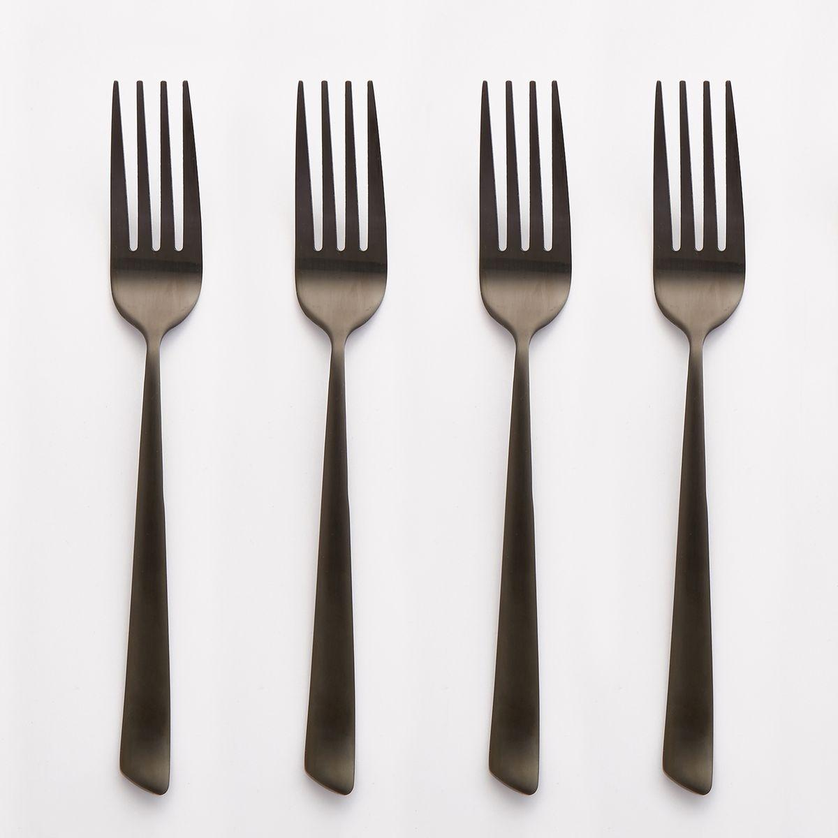 Lot de 4 fourchettes inox, Sarubbo