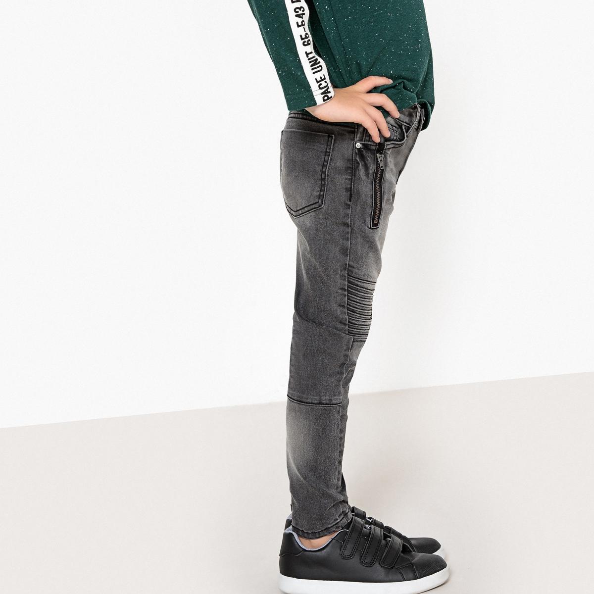Джинсы узкие с разрезами на коленях, 3-12 лет джинсы бойфренд 3 14 лет